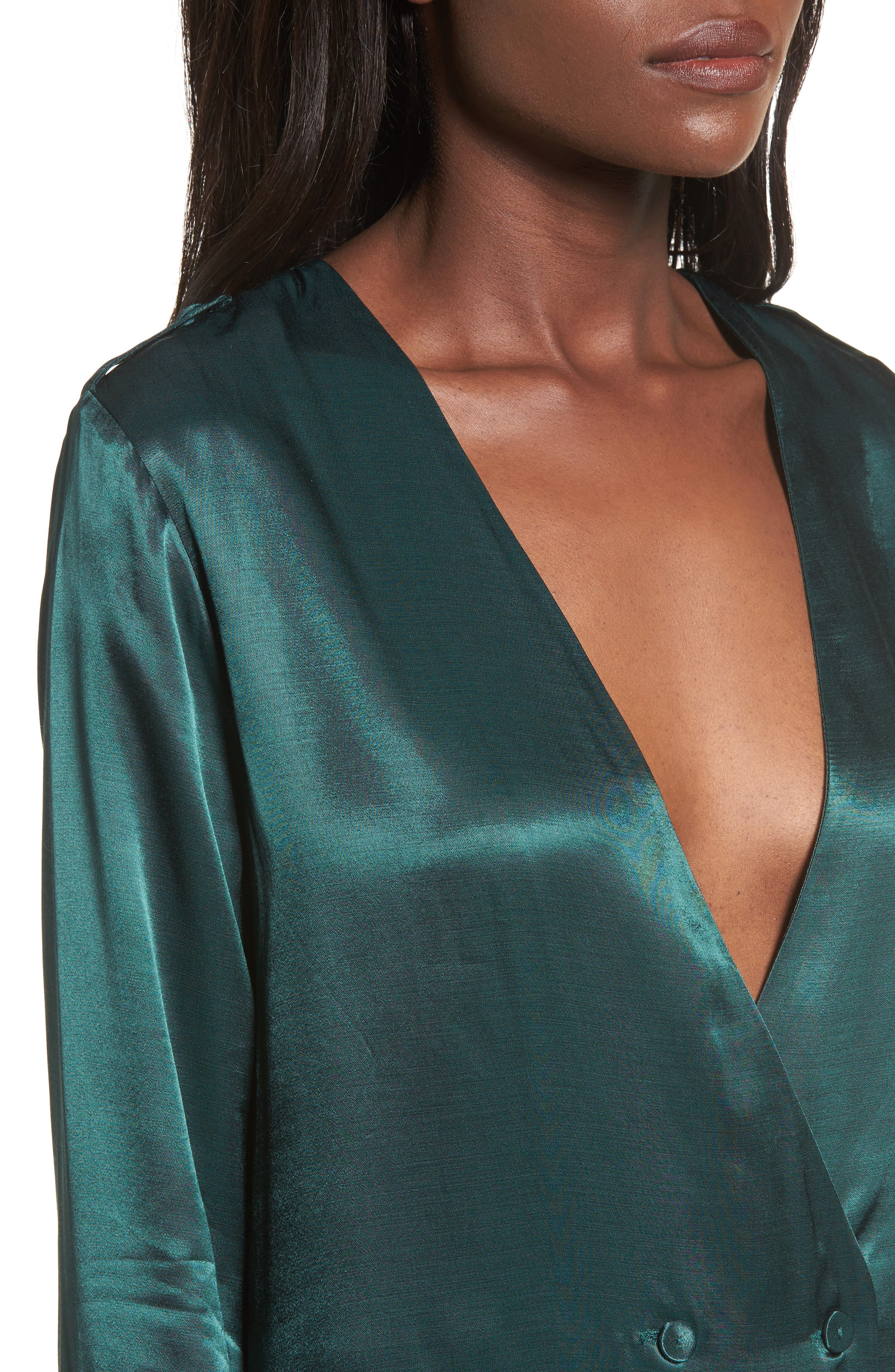 L'Academie The Cadet Shirtdress,                             Alternate thumbnail 4, color,                             Emerald