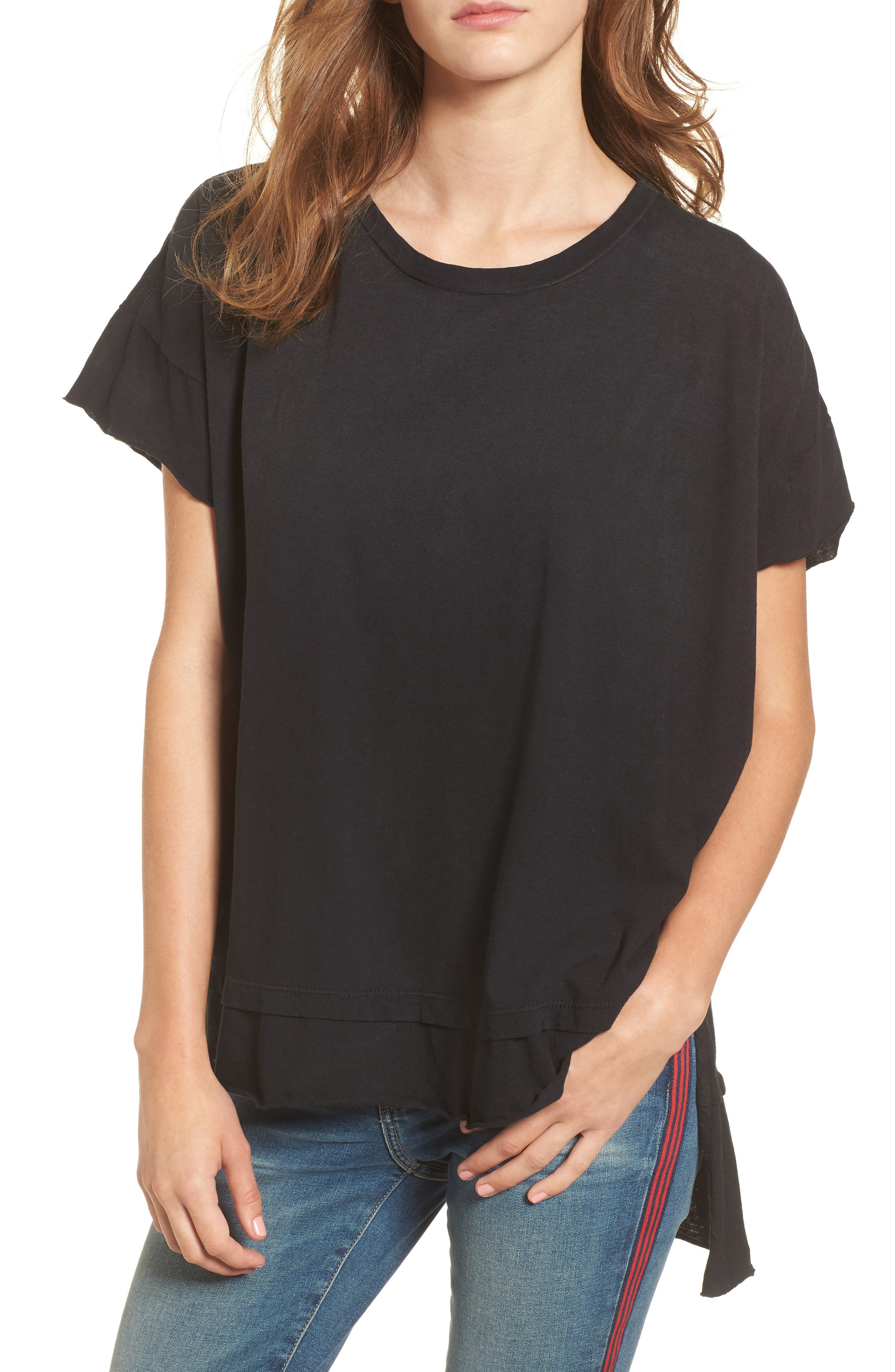The High/Low Tee,                         Main,                         color, Black