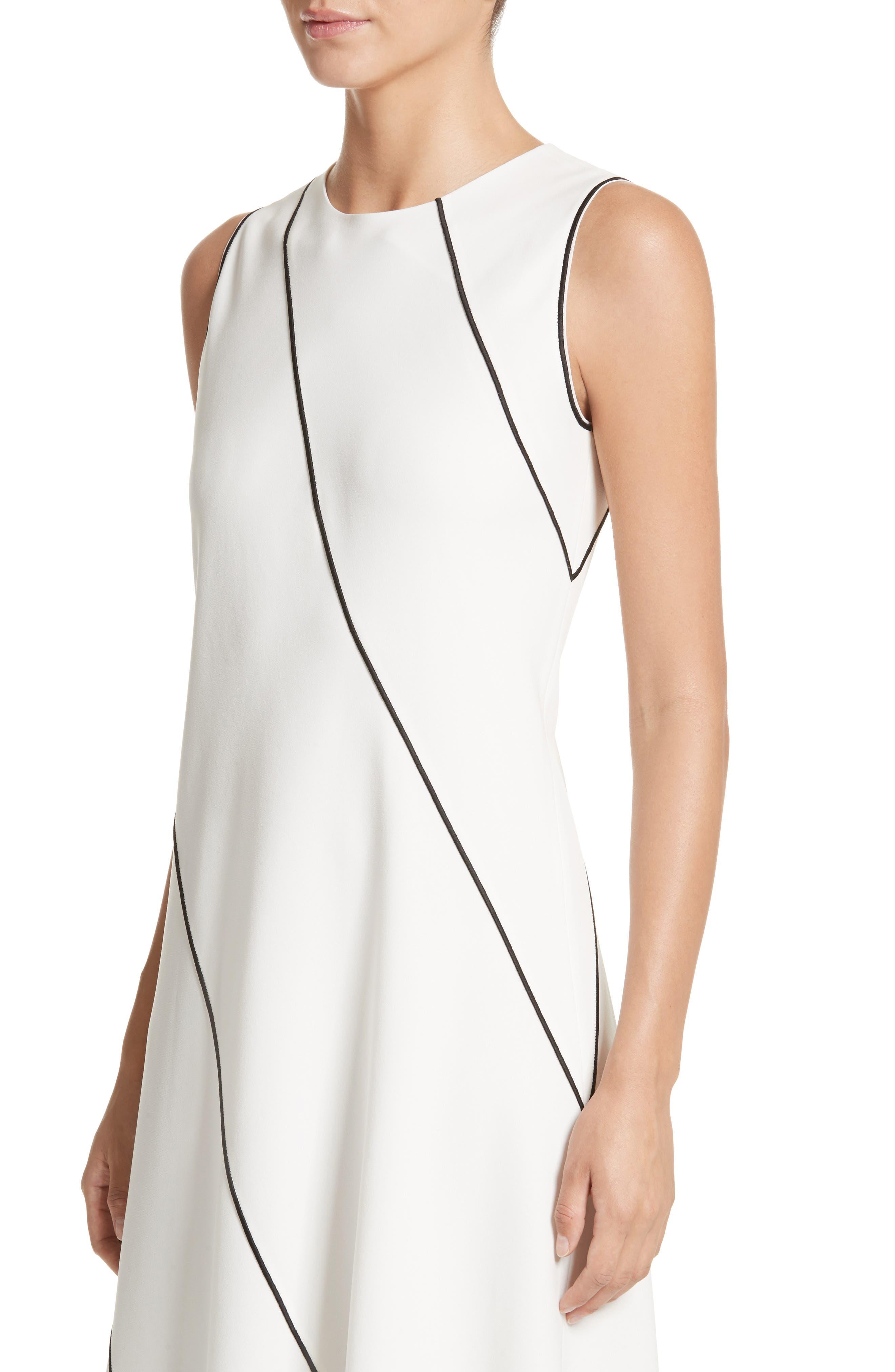 Alternate Image 4  - Lafayette 148 New York Madelia Velvet & Satin Midi Dress