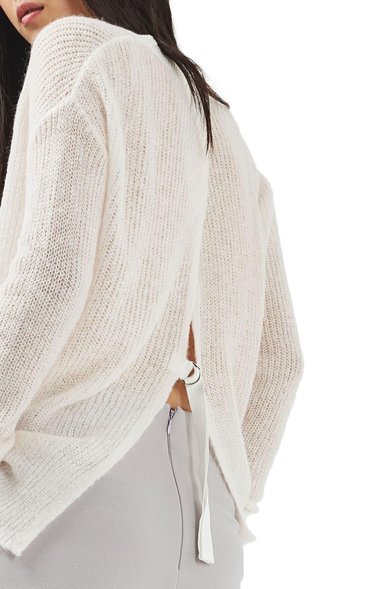Alternate Image 4  - Topshop Envelope Back Sweater