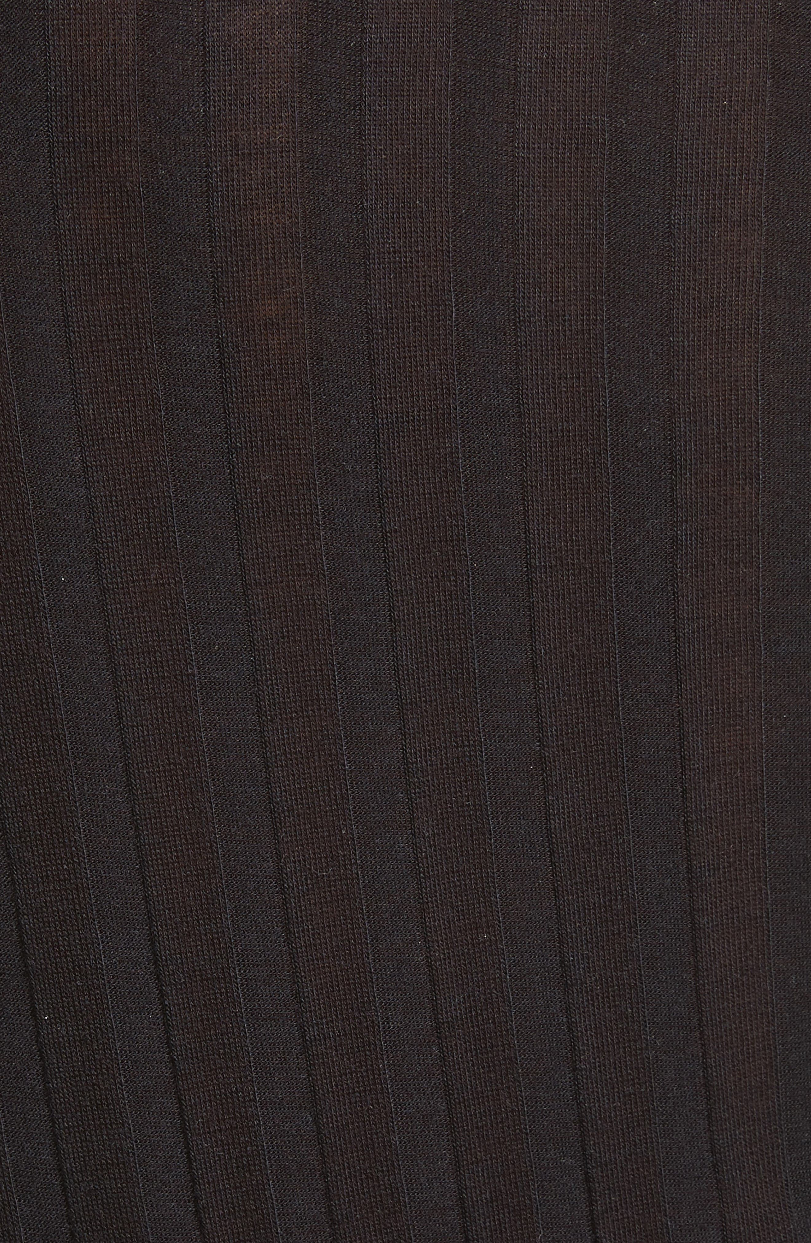 Lookout One-Shoulder Jersey Bodysuit,                             Alternate thumbnail 5, color,                             Black