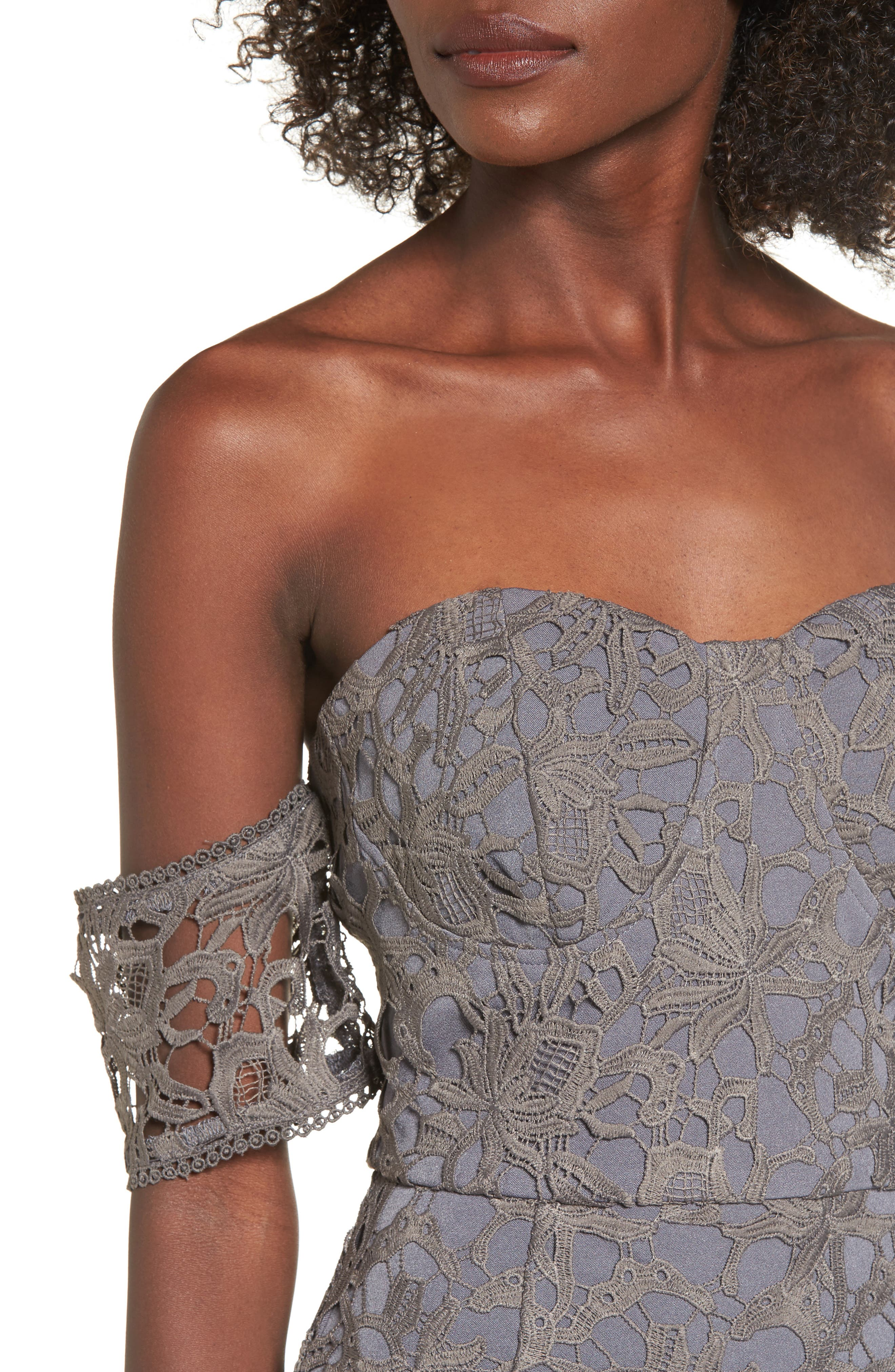 Alternate Image 4  - J.O.A. Off the Shoulder Lace Midi Dress