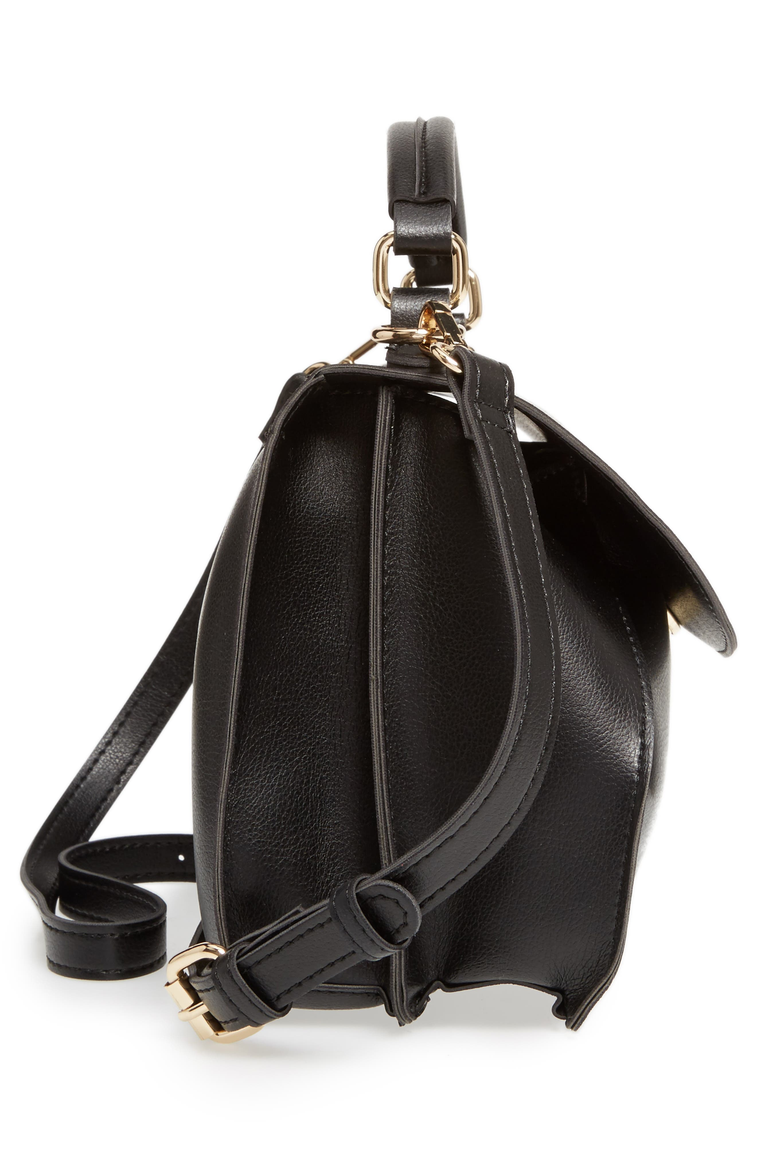 Alternate Image 4  - Sole Society Izzy Faux Leather Top Handle Satchel