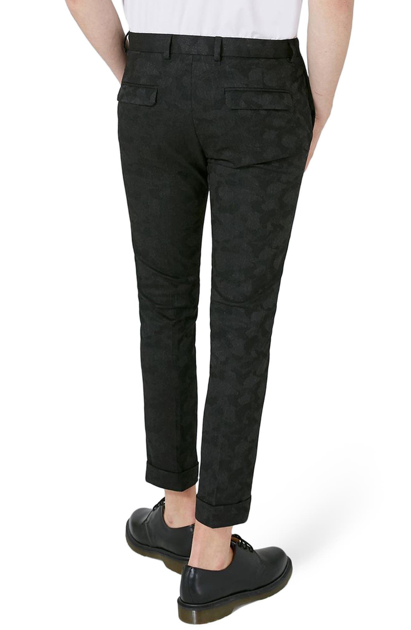 Alternate Image 2  - Topman Shadow Camo Ultra Skinny Suit Trousers