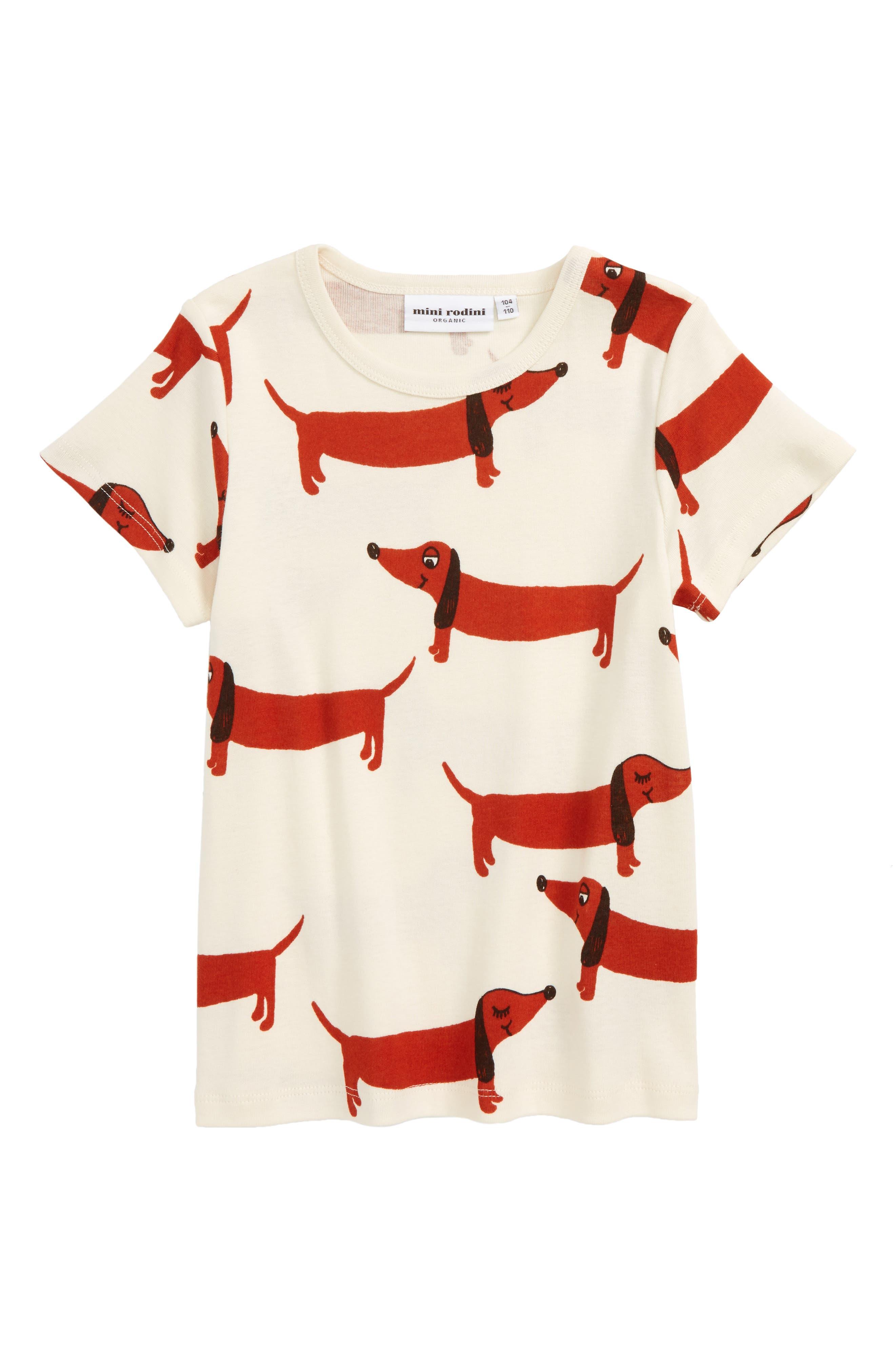 Alternate Image 1 Selected - Mini Rodini Dog Graphic T-Shirt (Toddler Boys & Little Boys)