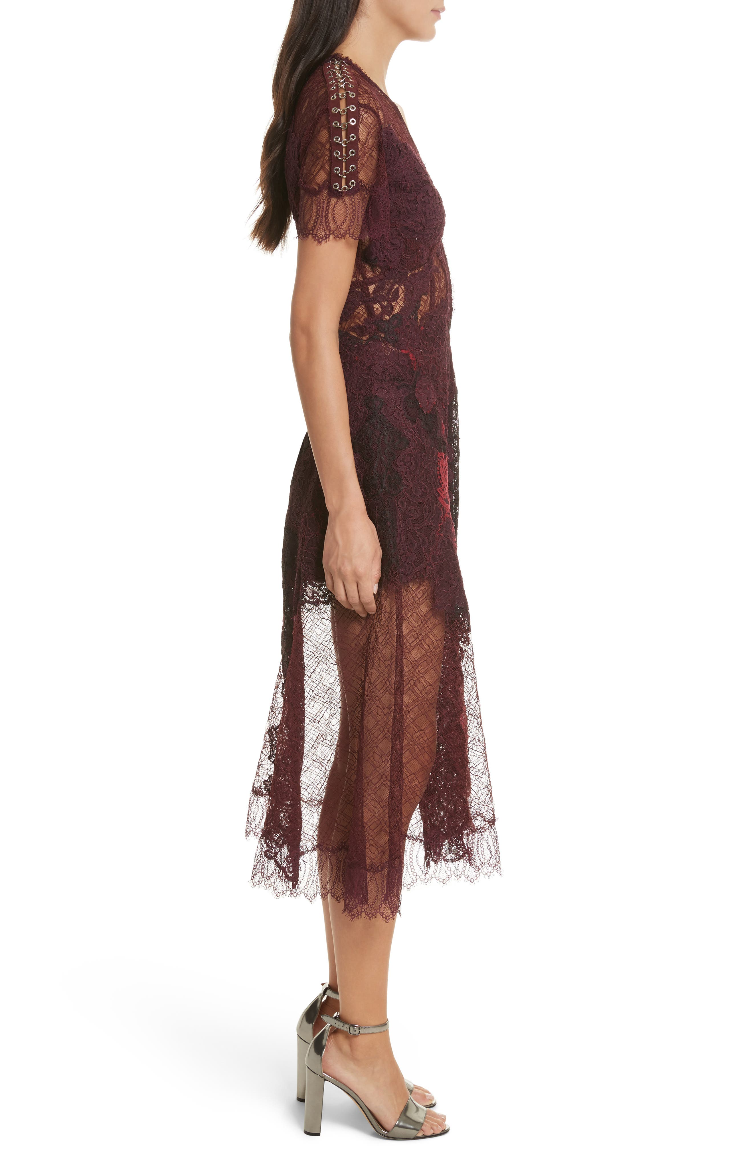 Alternate Image 3  - Jonathan Simkhai Grommet Detail Lace Dress