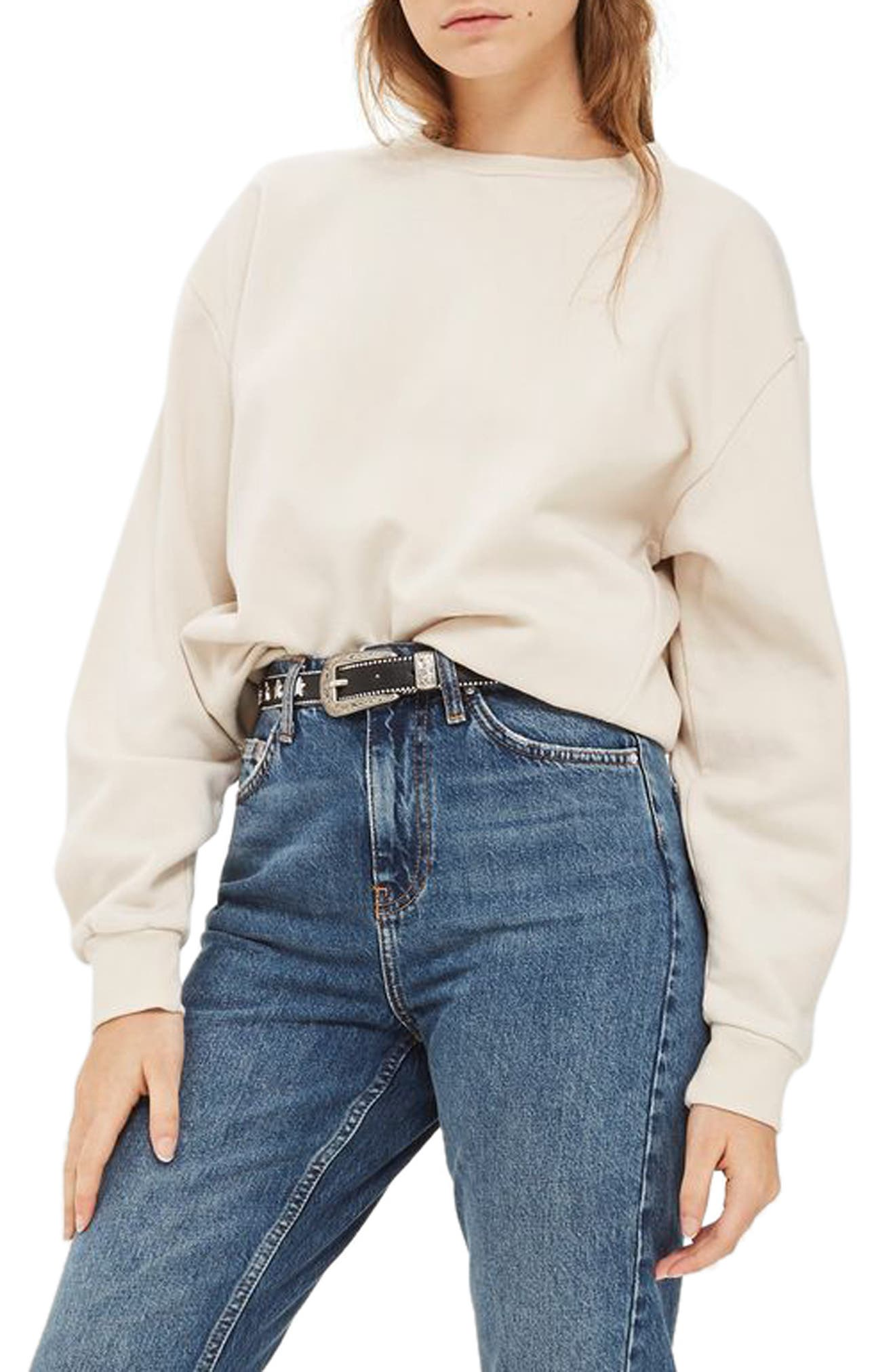 Alternate Image 2  - Topshop Sloppy Sweatshirt