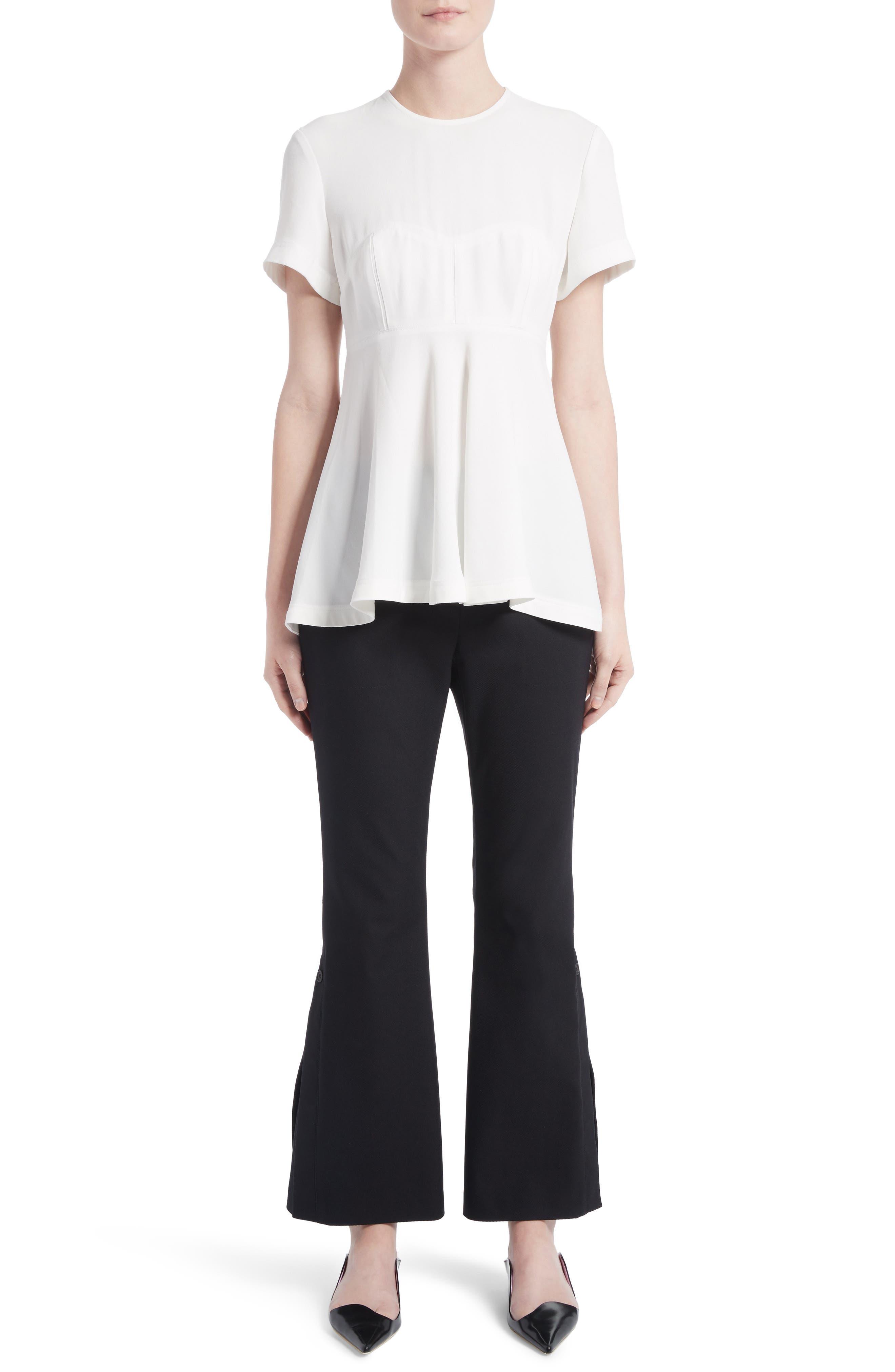 Alternate Image 6  - Proenza Schouler Stretch Cotton Blend Flare Pants
