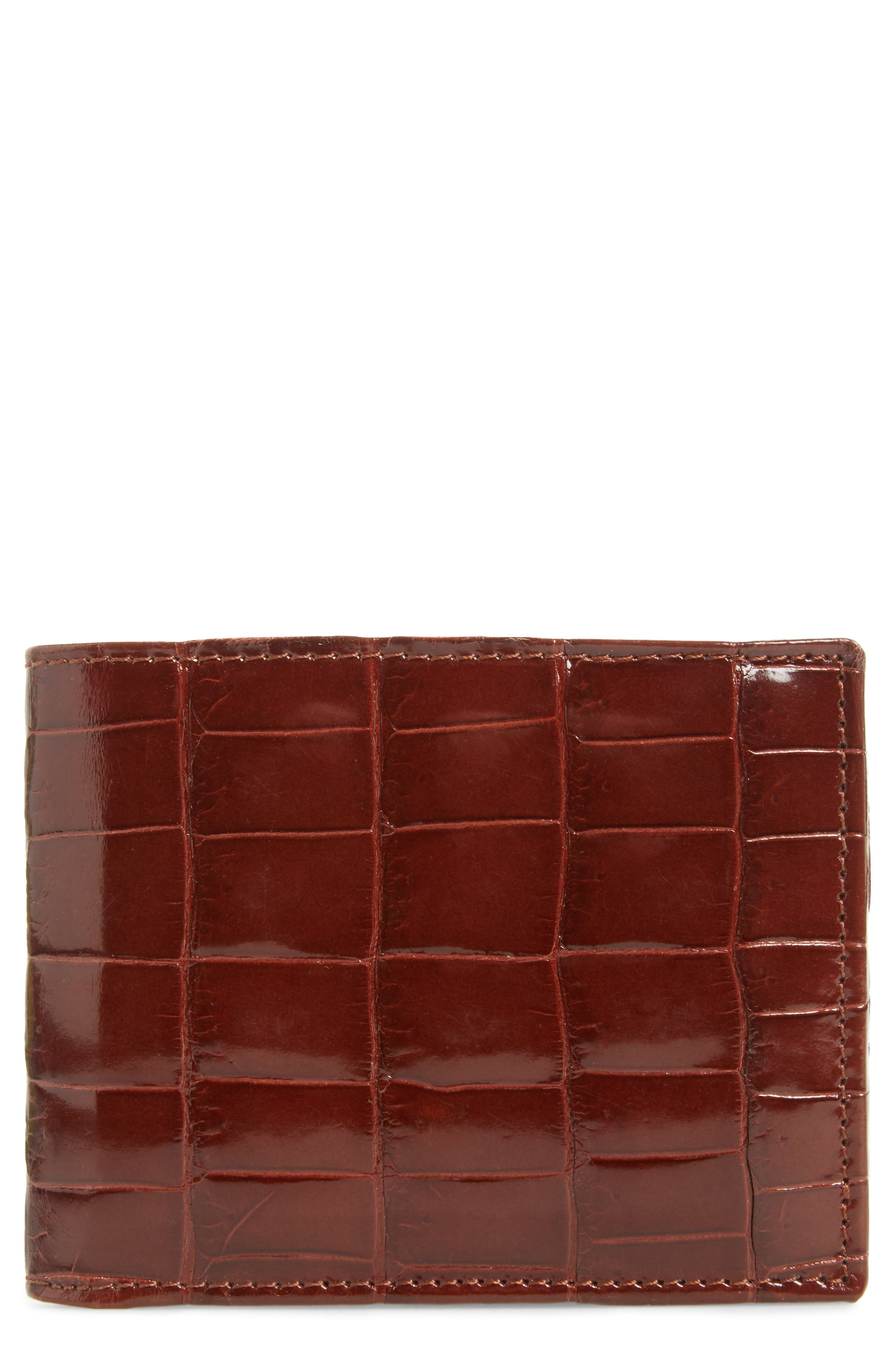 Alligator Leather Bifold Wallet,                             Main thumbnail 1, color,                             Sport