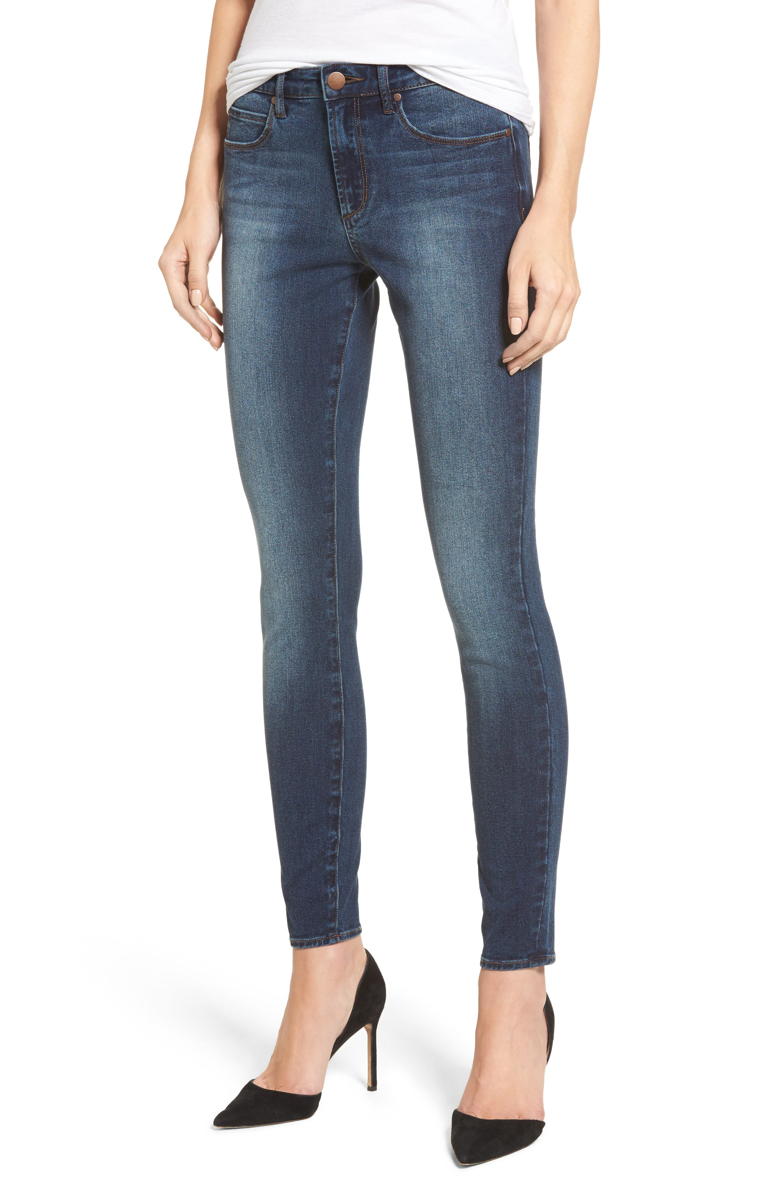 High Waist Skinny Jeans,                         Main,                         color, Medium Wash