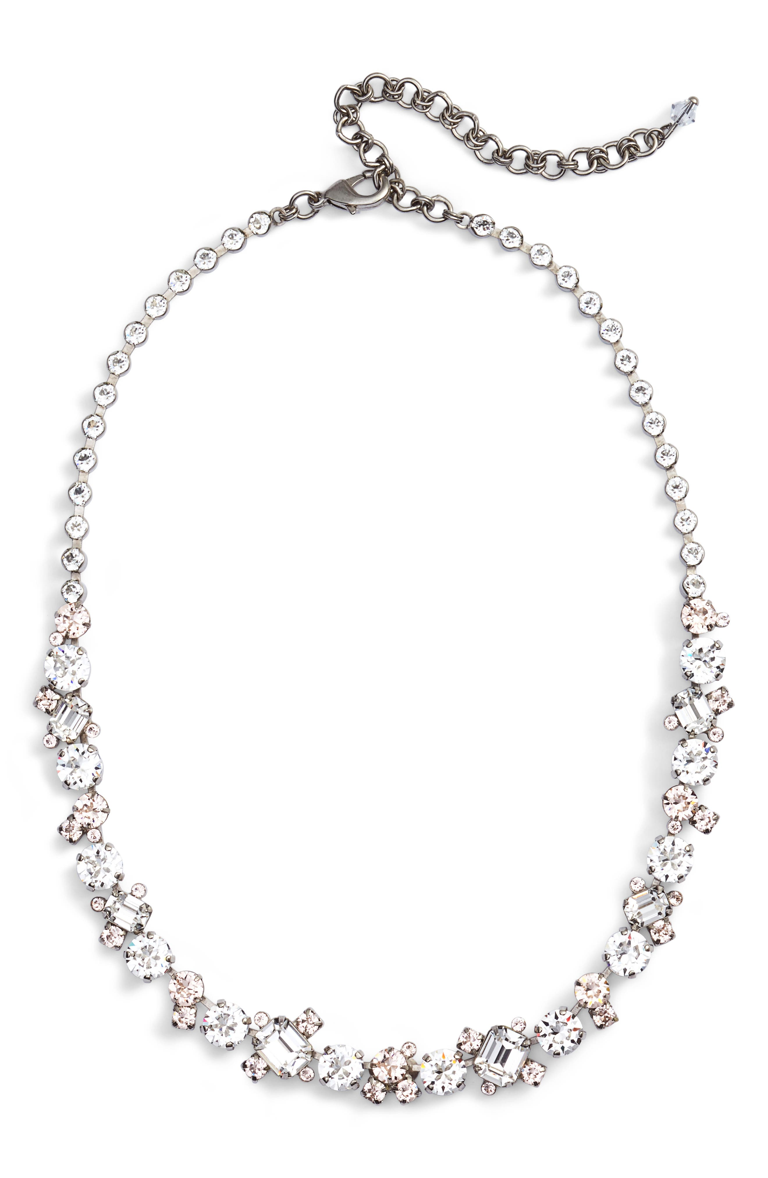 Crystal Collar Necklace,                         Main,                         color, Clear