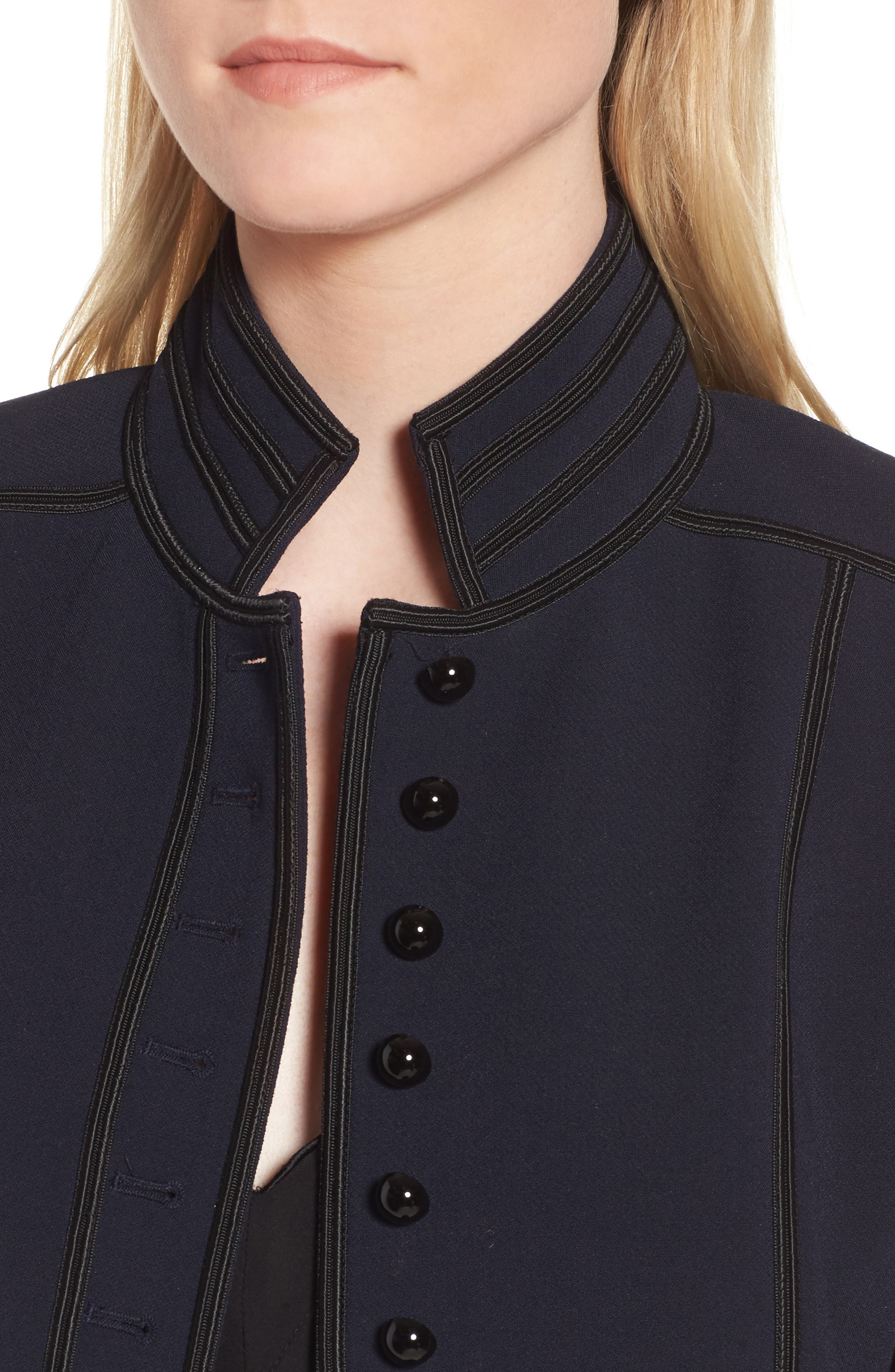 Military Detail Jacket,                             Alternate thumbnail 4, color,                             Navy Night