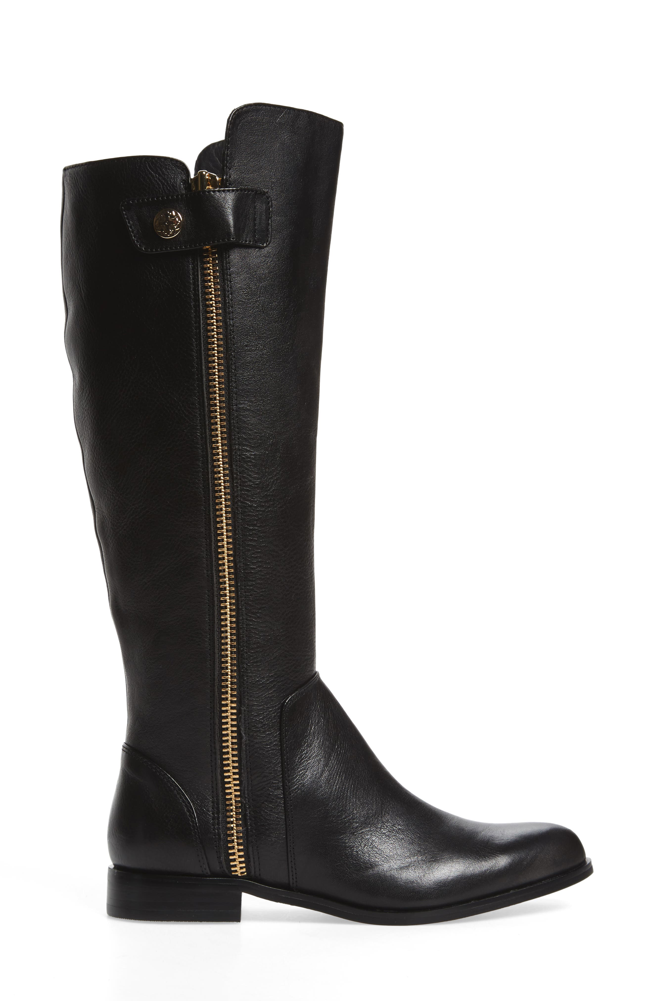 Melino Boot,                             Alternate thumbnail 3, color,                             Black Leather