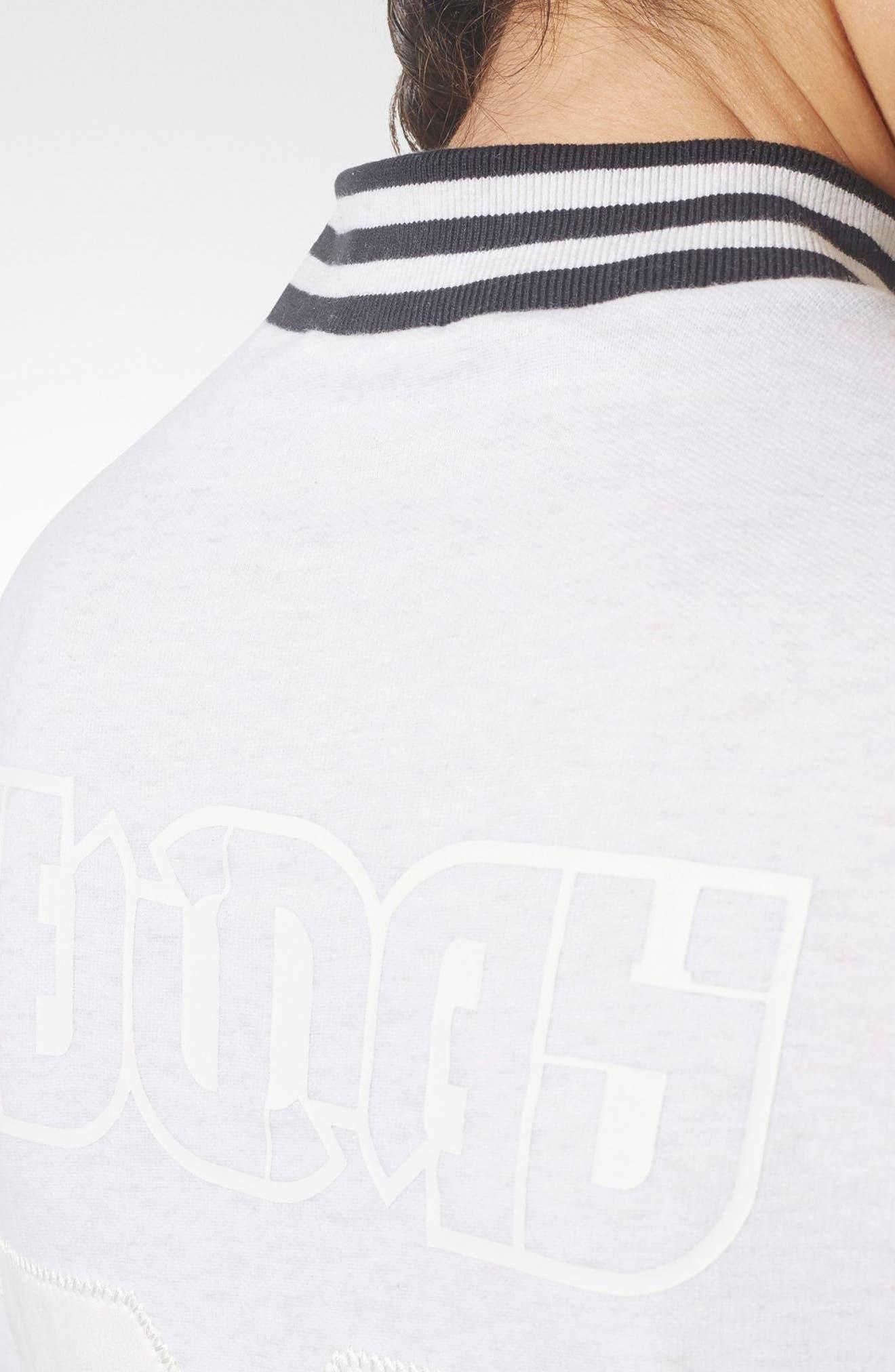 Alternate Image 4  - adidas Stripe Mock Neck Tee