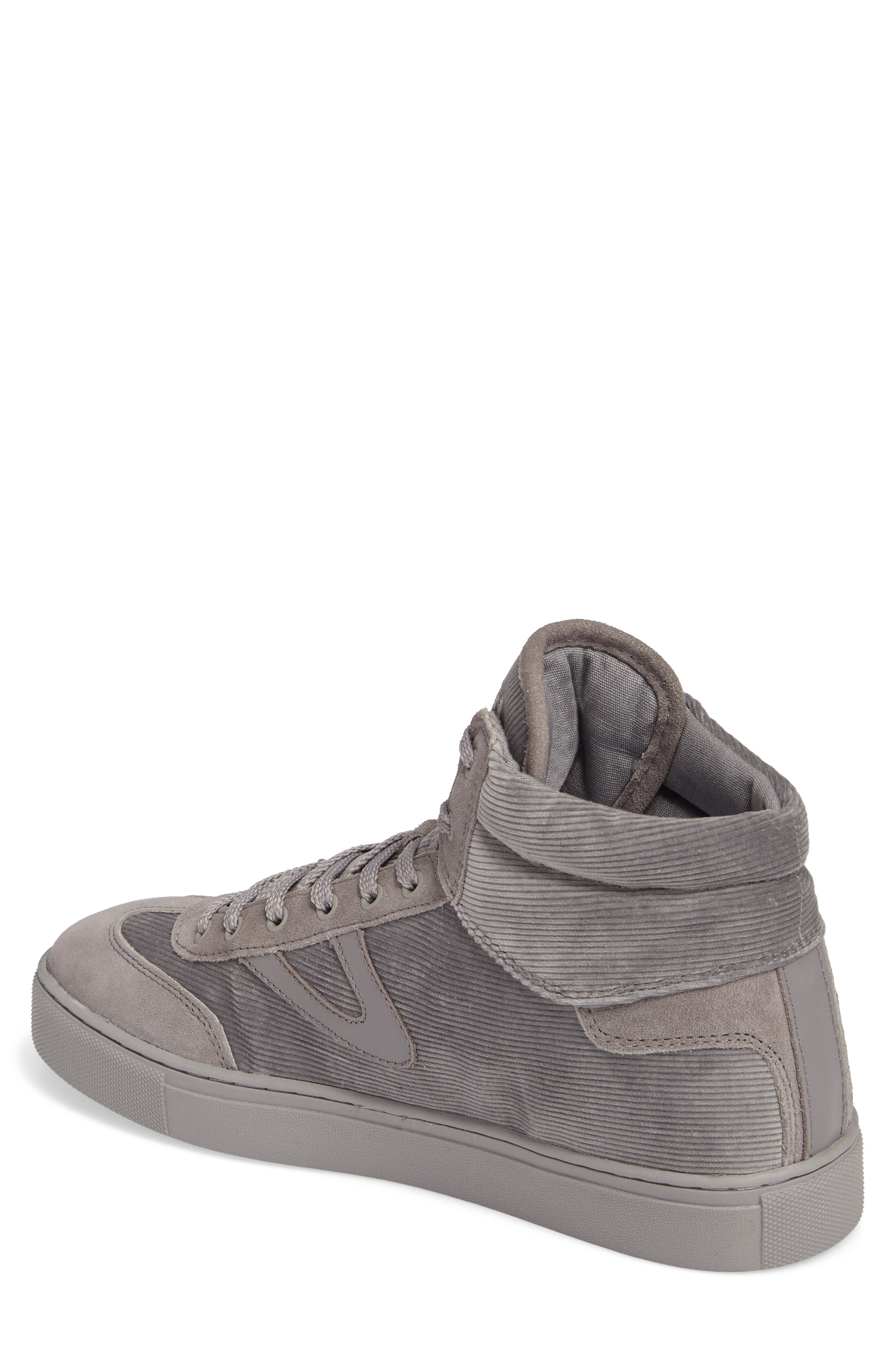 Jack High Top Sneaker,                             Alternate thumbnail 2, color,                             Grey/ Grey