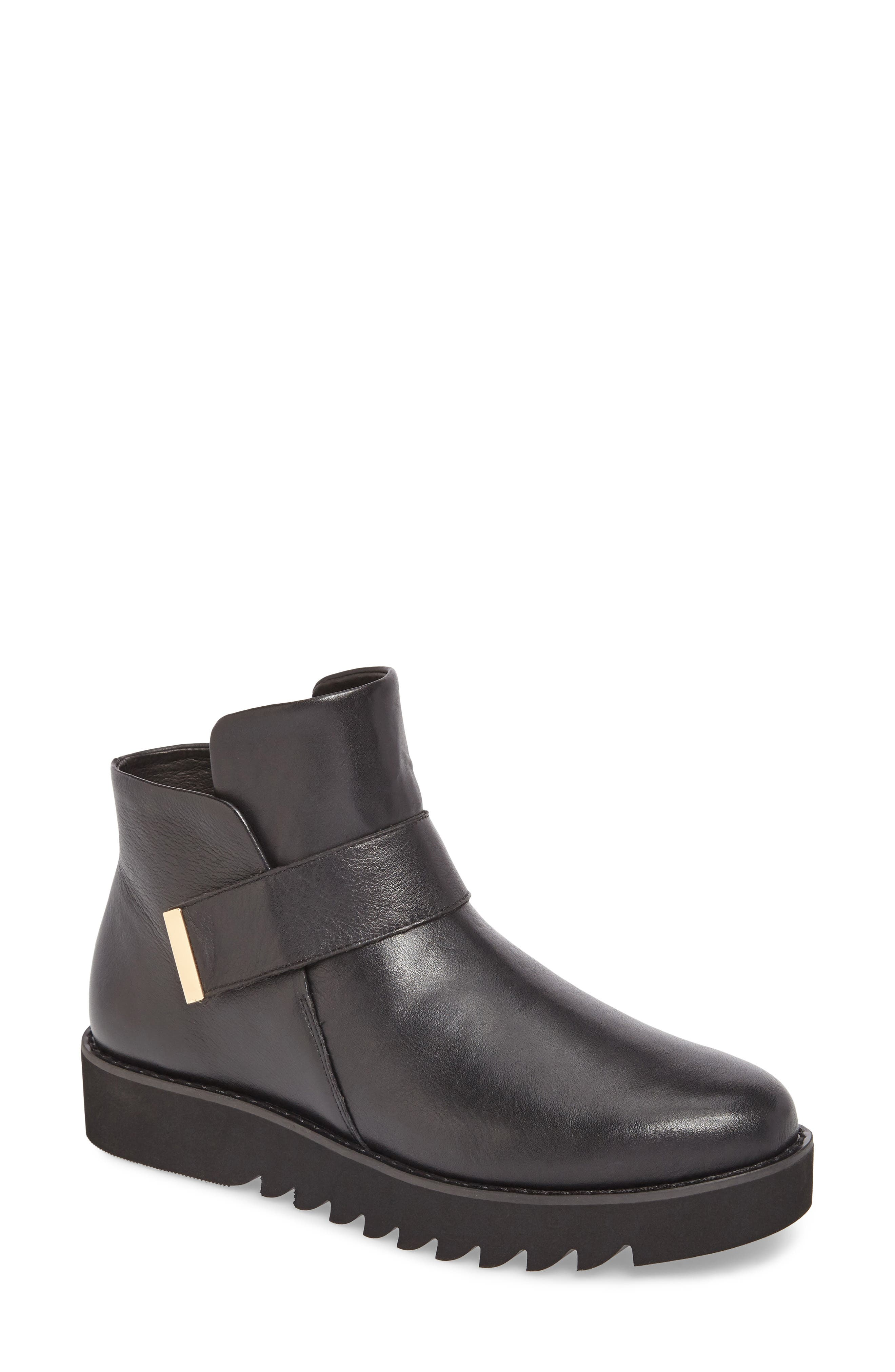 Kris Boot,                             Main thumbnail 1, color,                             Black Leather