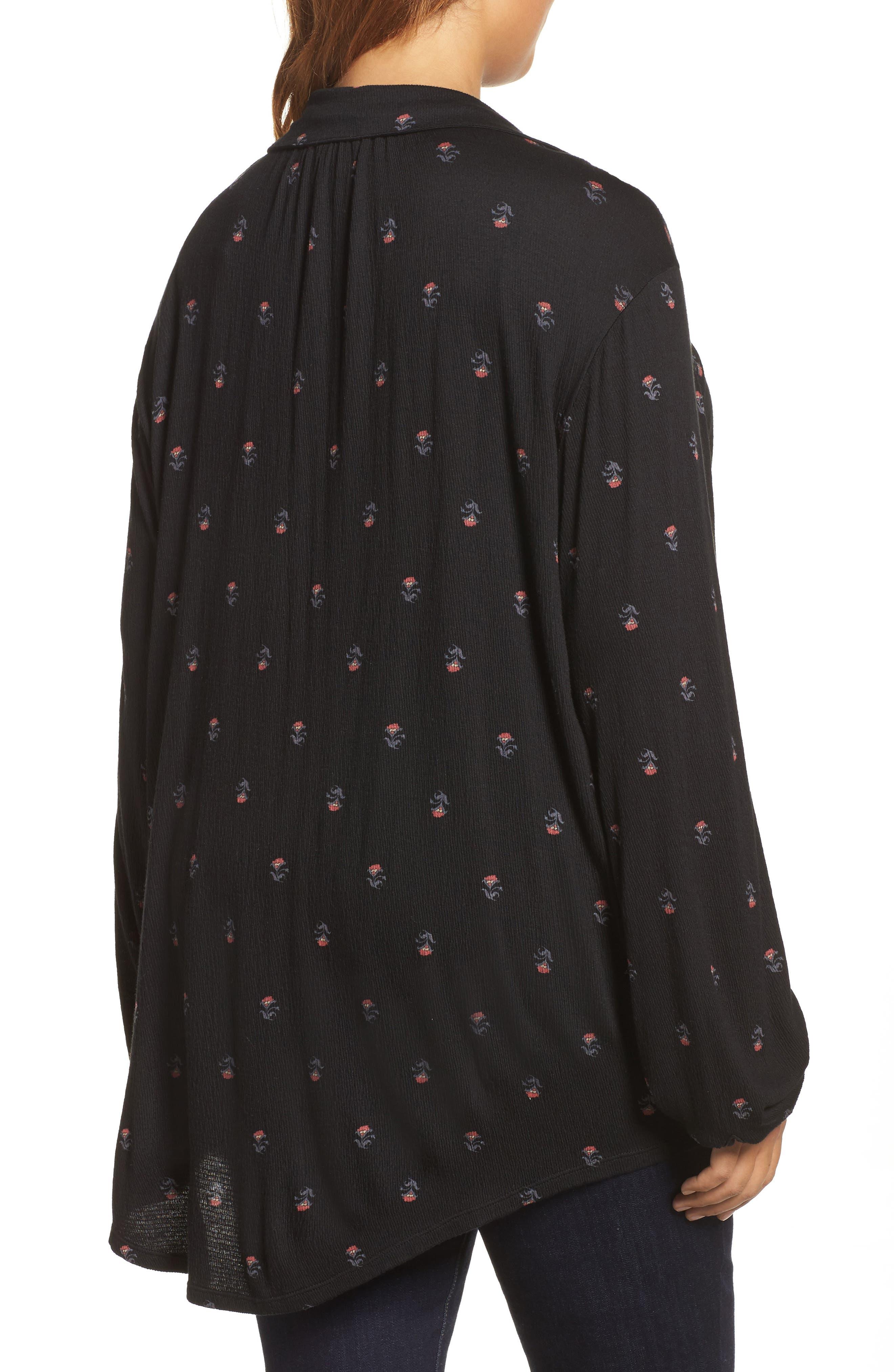 Alternate Image 2  - Lucky Brand Ditsy Print Shirt (Plus Size)
