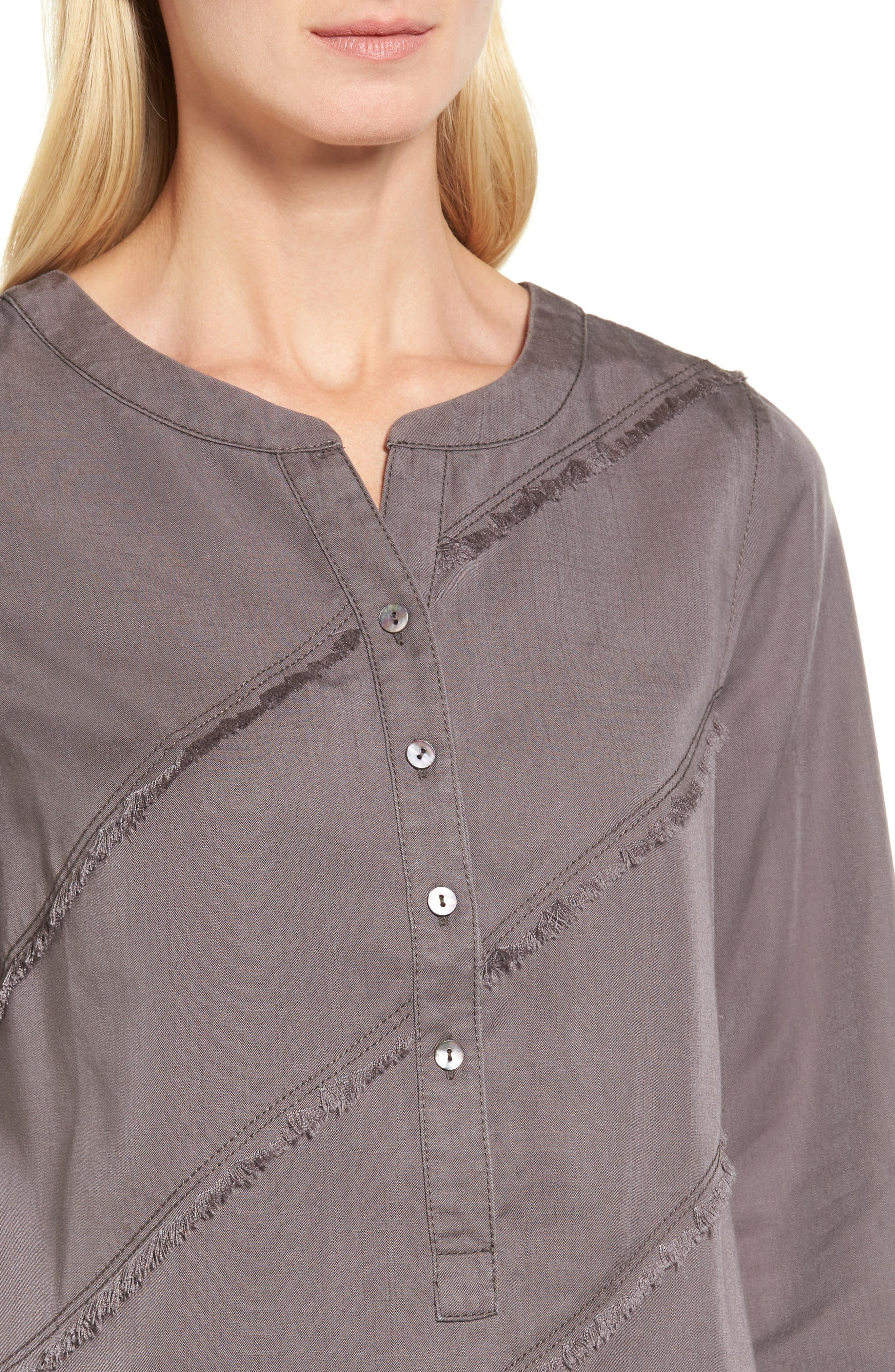 Tranquil Tunic Top,                             Alternate thumbnail 4, color,                             Warm Grey