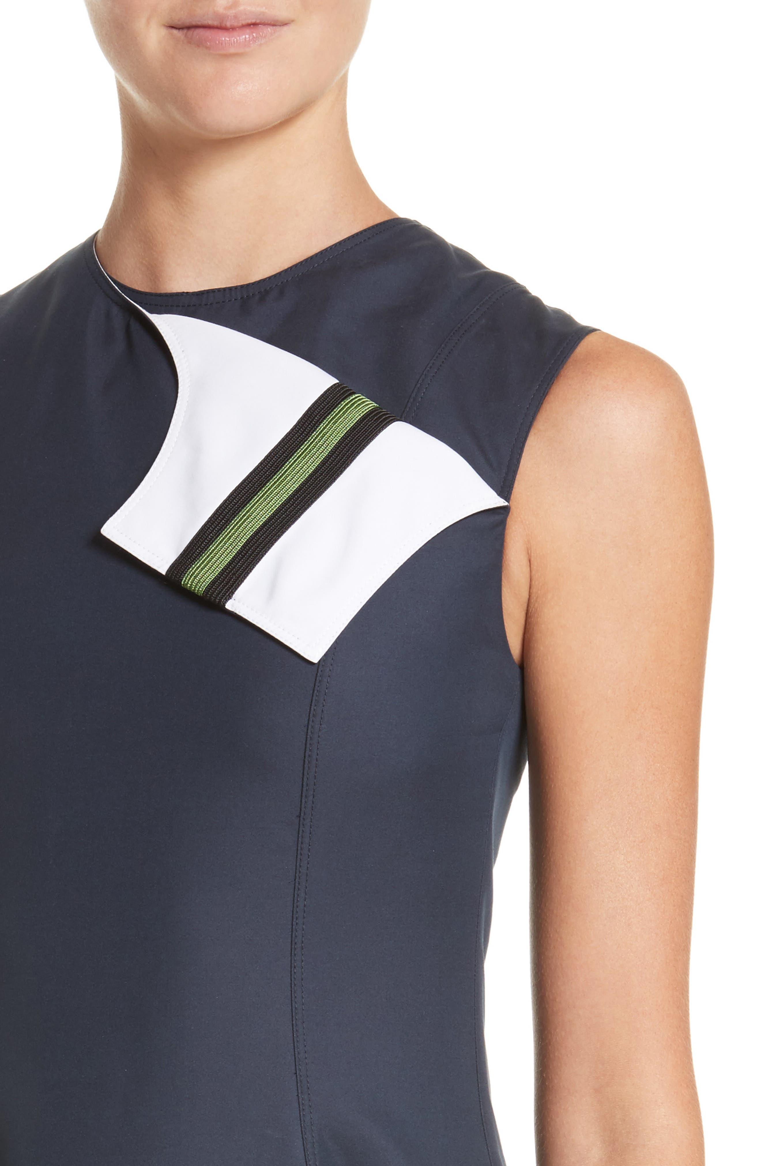 Alternate Image 4  - Calvin Klein 205W39NYC Cotton & Silk Dress