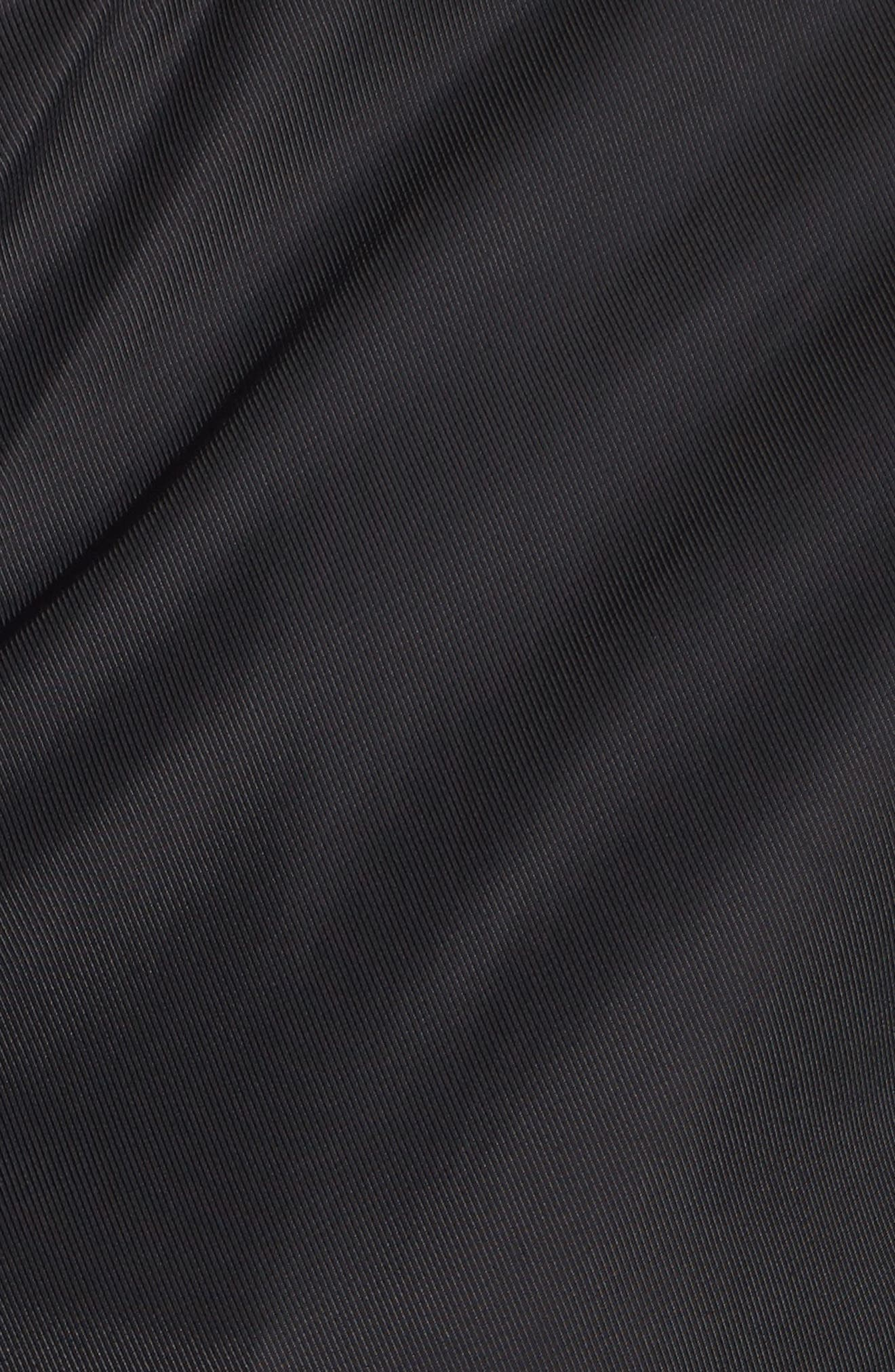 Bomber Anorak Jacket,                             Alternate thumbnail 5, color,                             Black