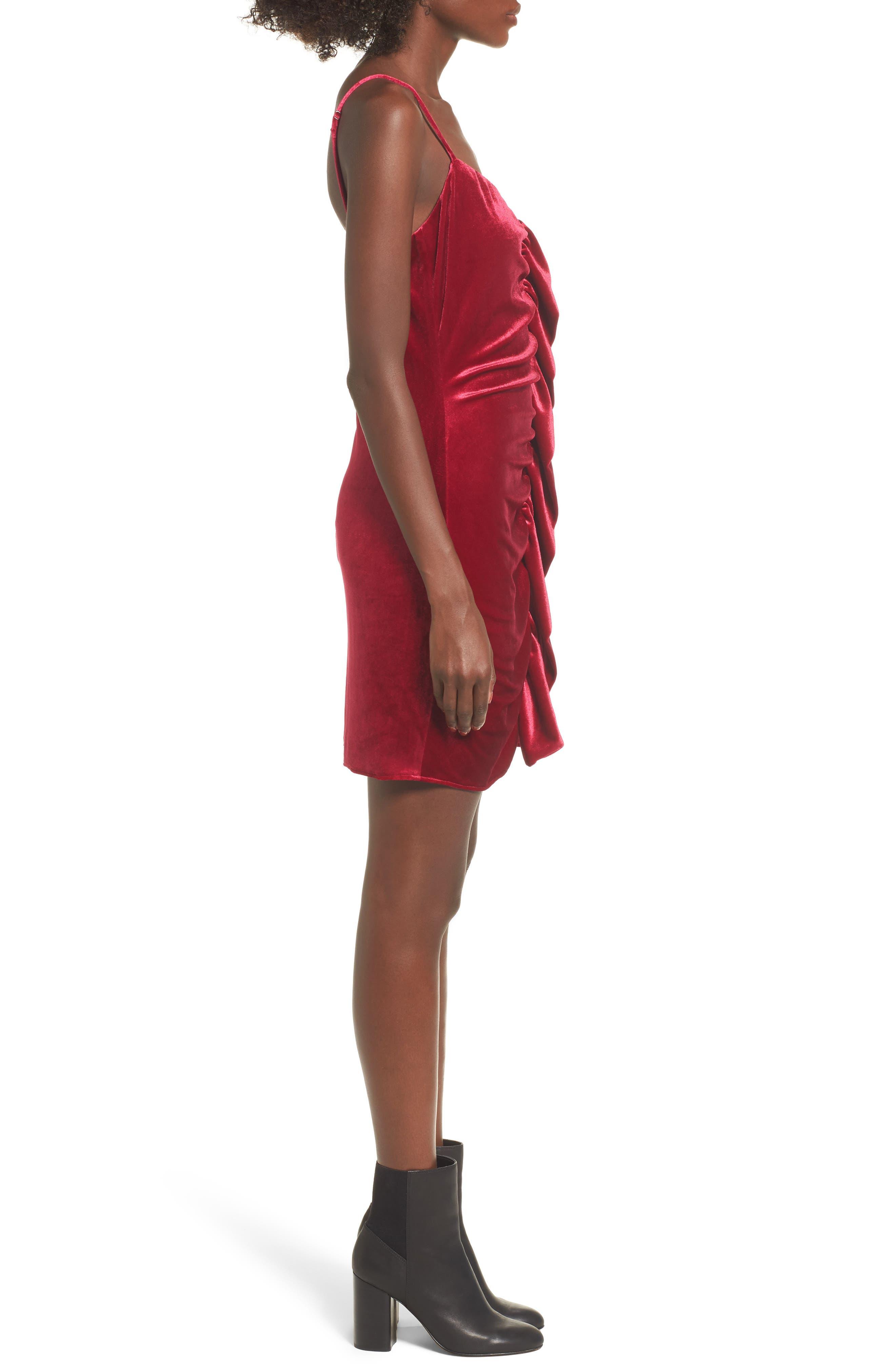 Grace Velvet Sheath Dress,                             Alternate thumbnail 3, color,                             Vivacious