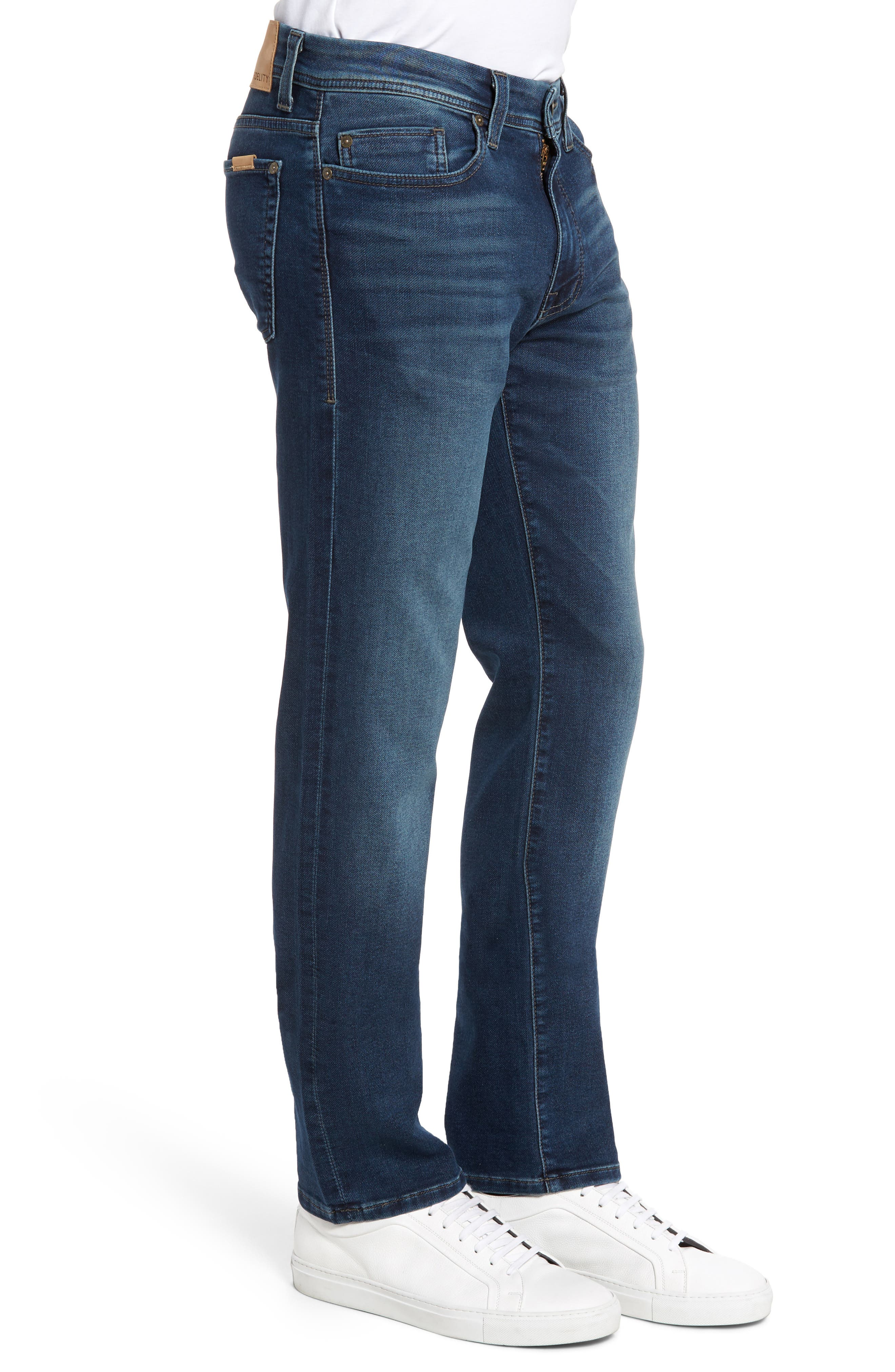 Jimmy Slim Straight Leg Jeans,                             Alternate thumbnail 3, color,                             Talk About Blue