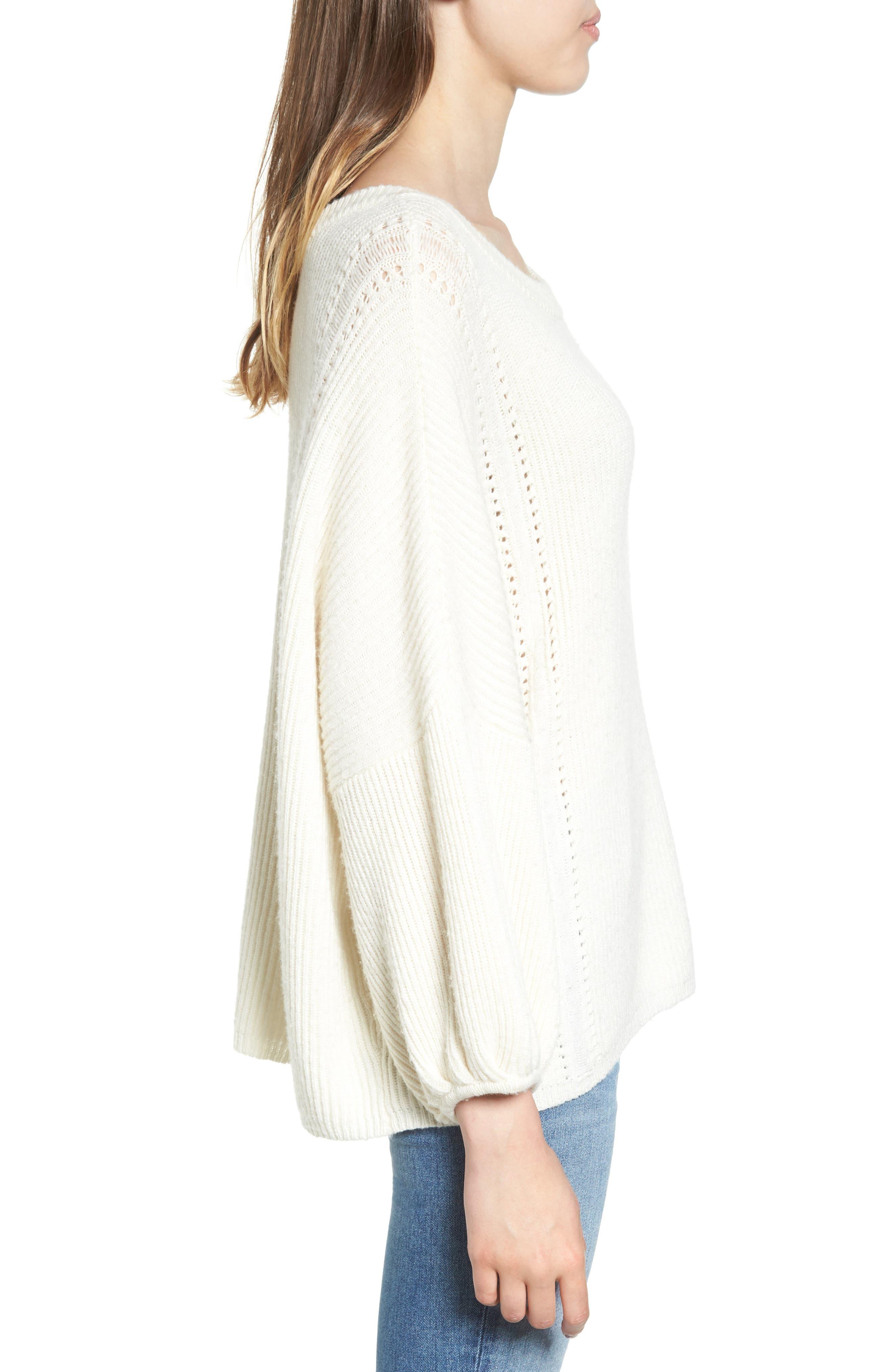 Alternate Image 3  - Ella Moss Delfina Ribbed Sweater