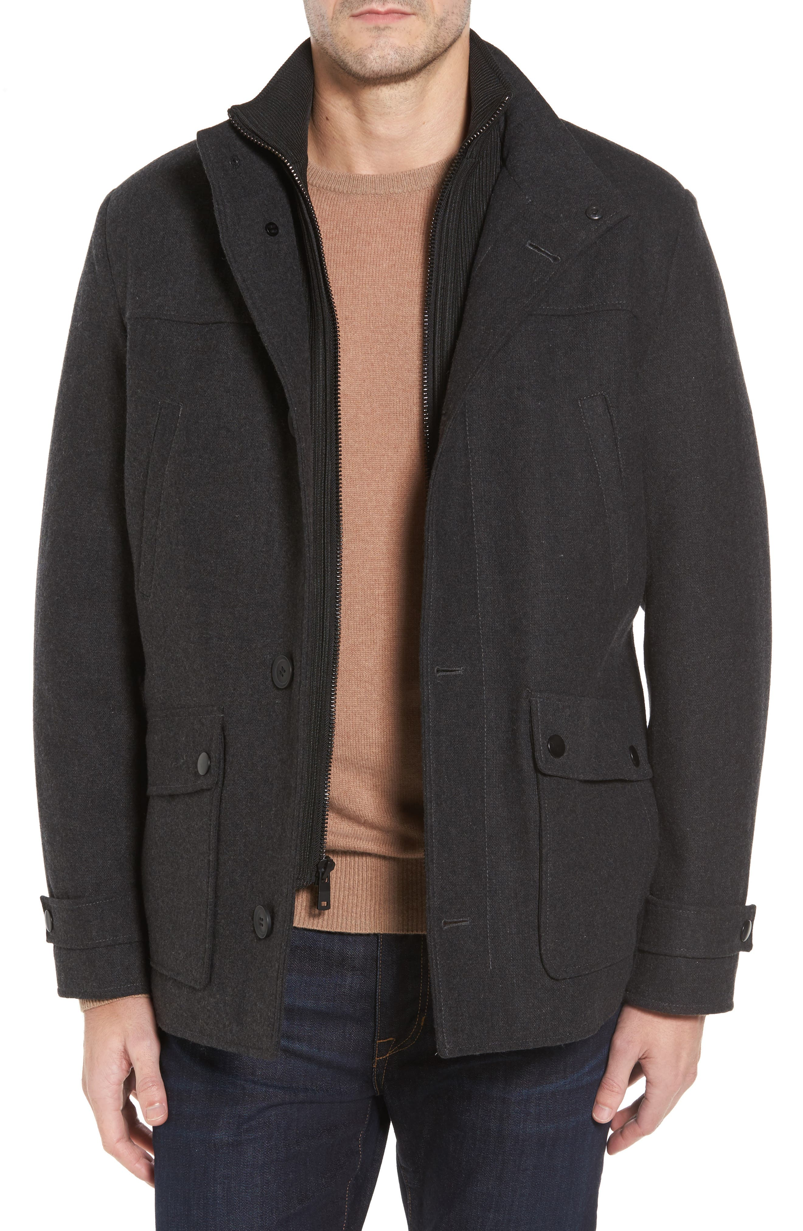 Main Image - Reaction Kenneth Cole Button Front Coat