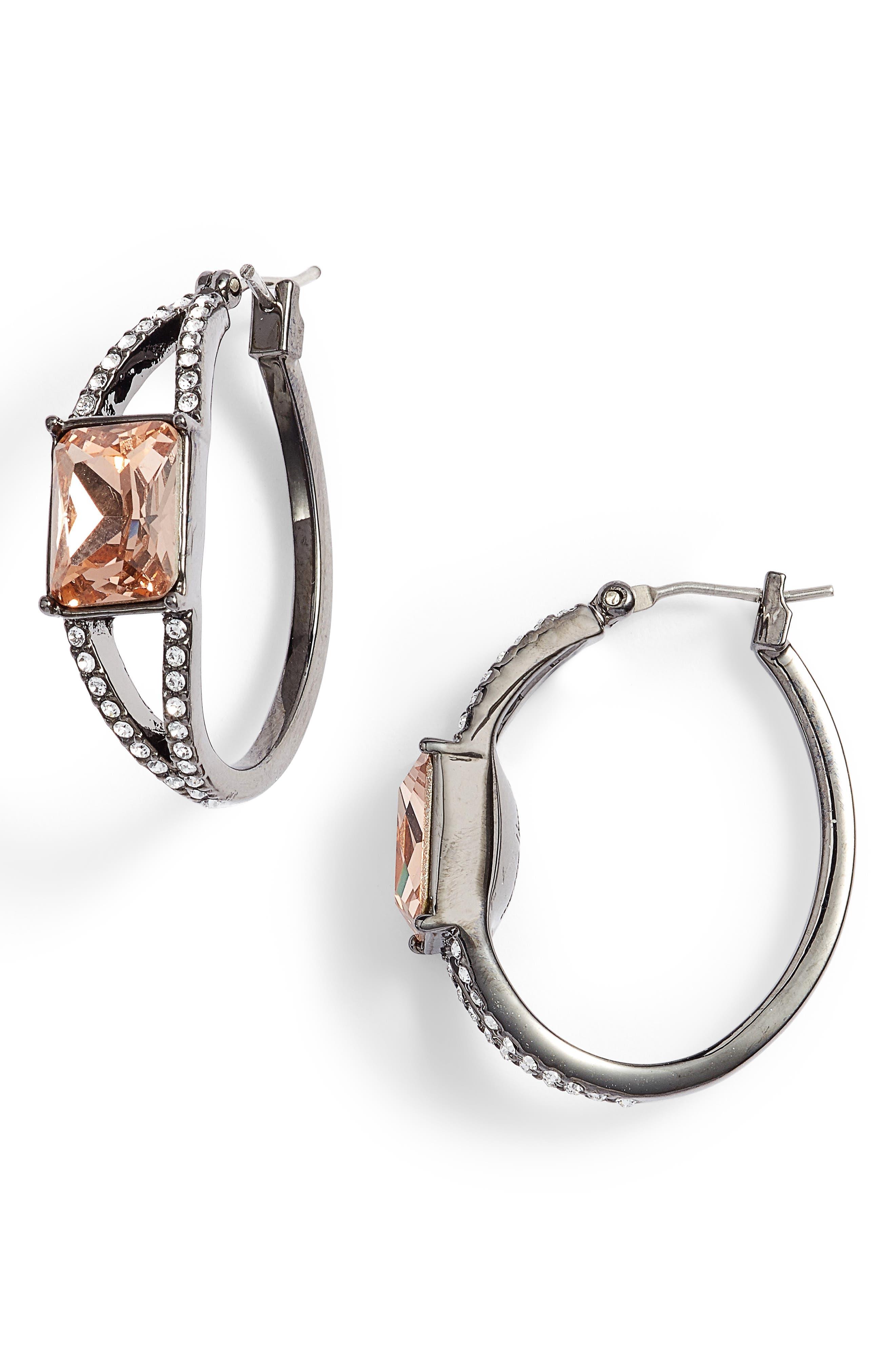 Jenny Packham Stone Hoop Earrings