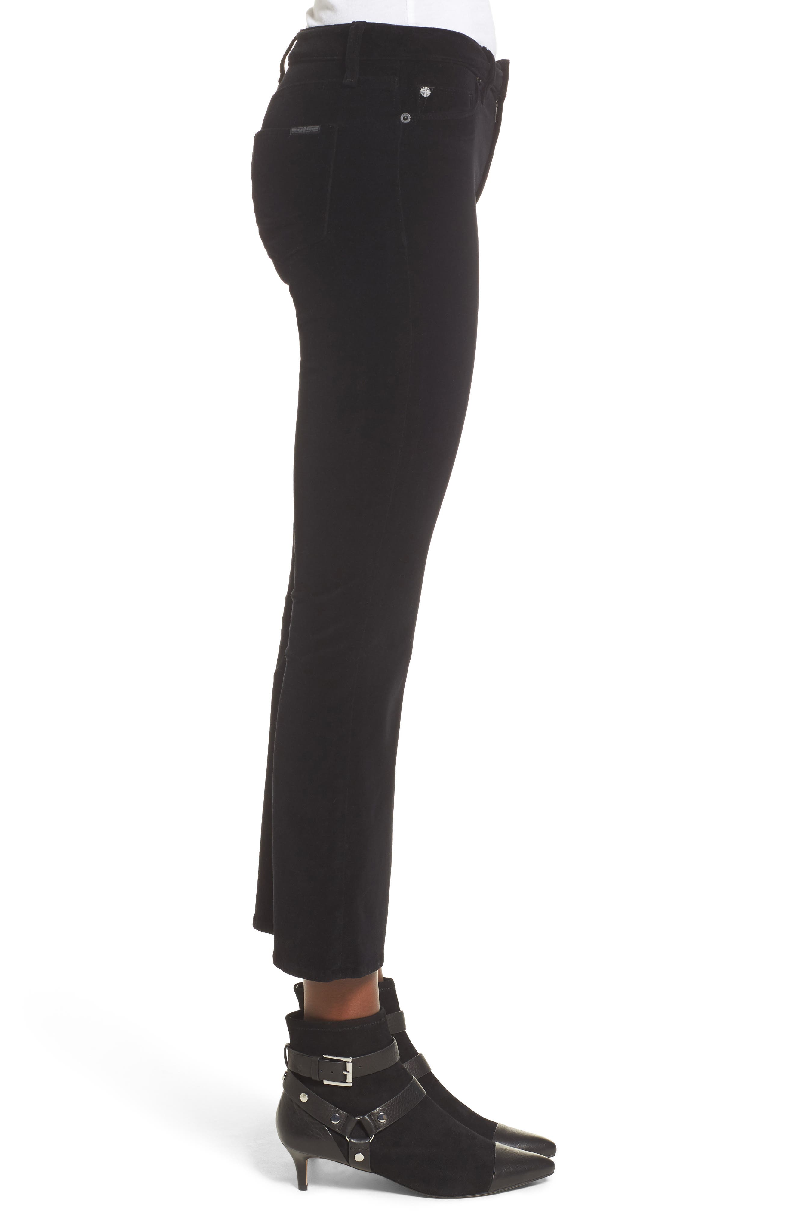 Alternate Image 3  - Hudson Jeans Brix Velvet High Waist Crop Bootcut Pants