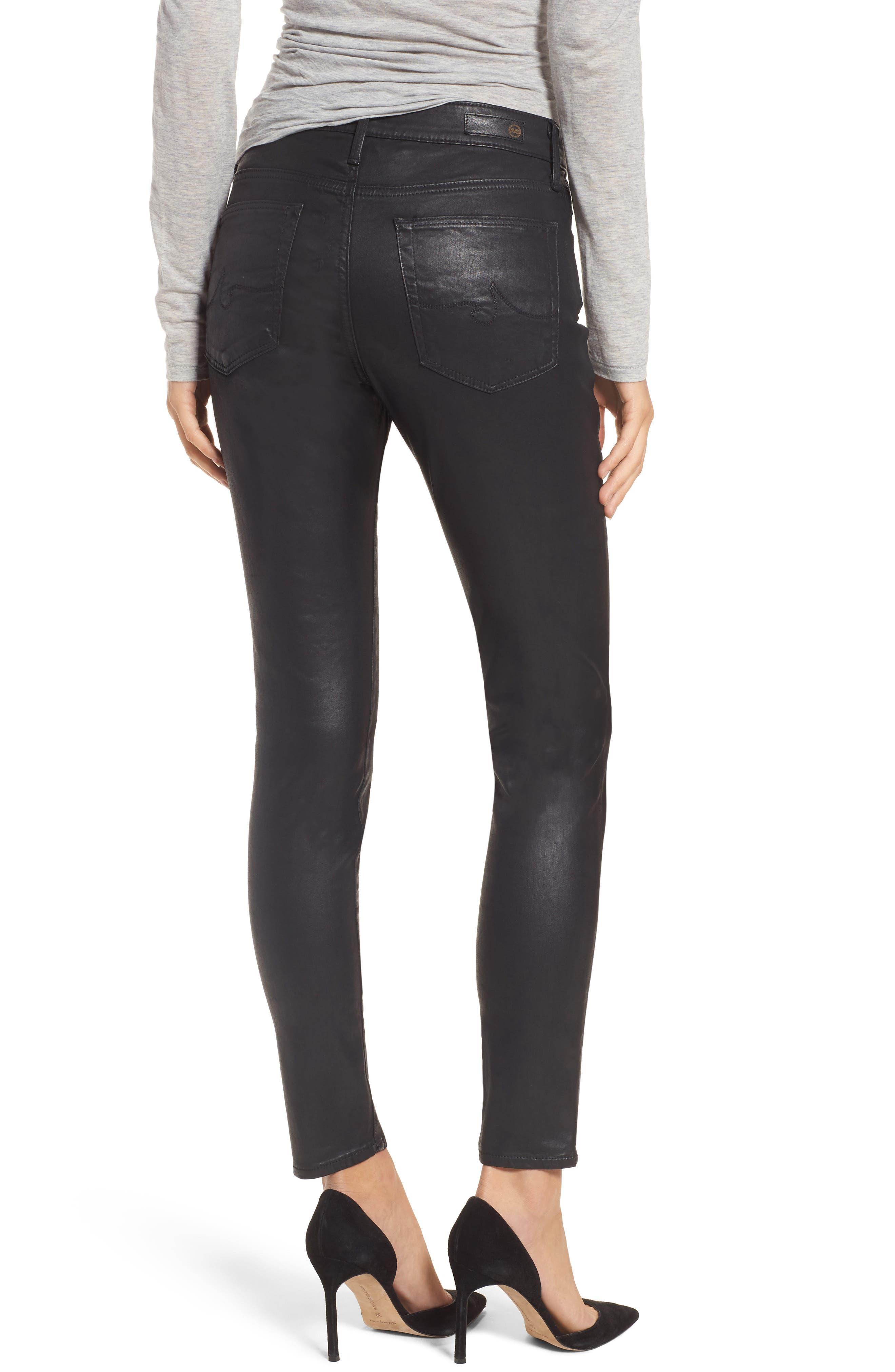 Alternate Image 2  - AG Farrah High Waist Ankle Skinny Jeans