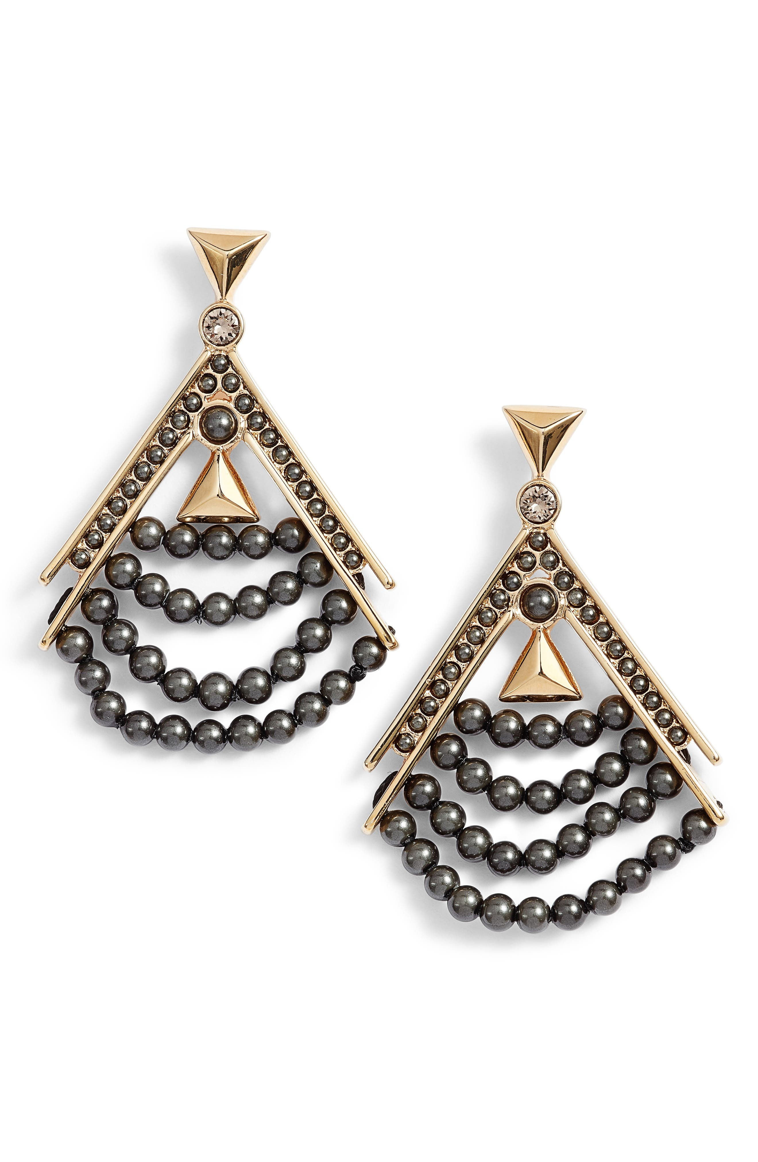 Givenchy Beaded Drop Earrings
