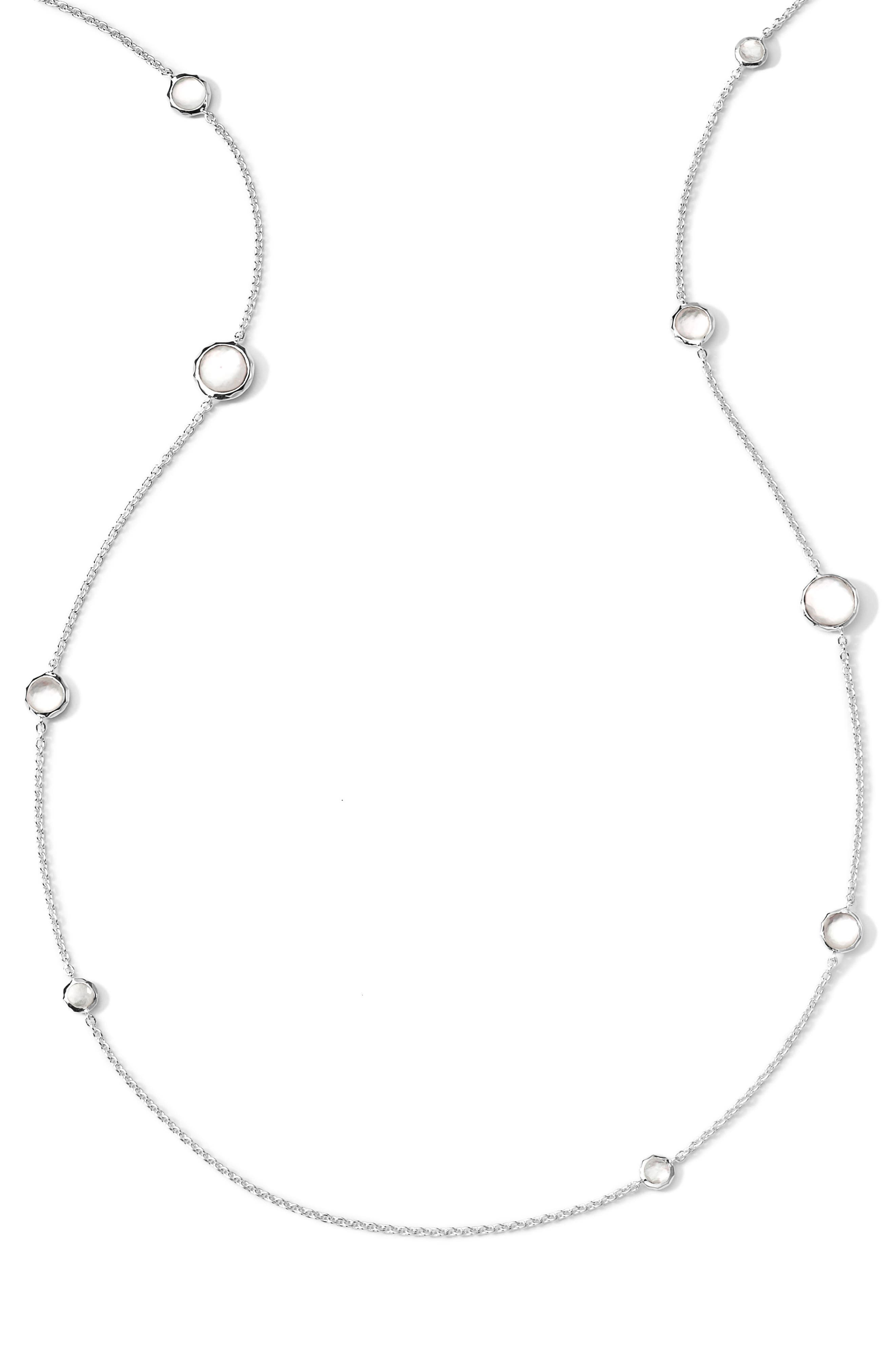 'Rock Candy - Lollipop' Long Necklace,                         Main,                         color, Silver