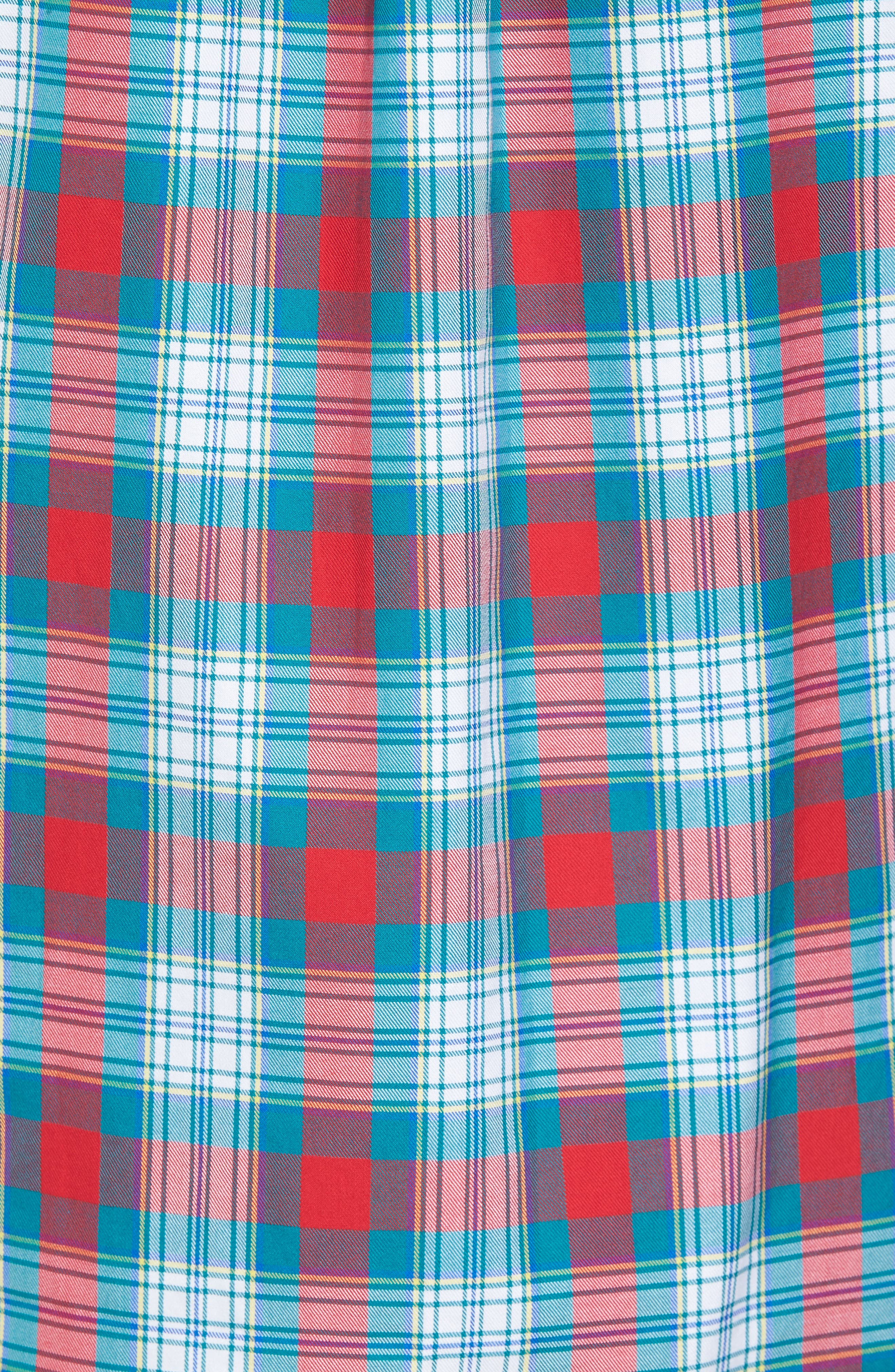 Elmwood Classic Fit Plaid Sport Shirt,                             Alternate thumbnail 5, color,                             Cape Teal