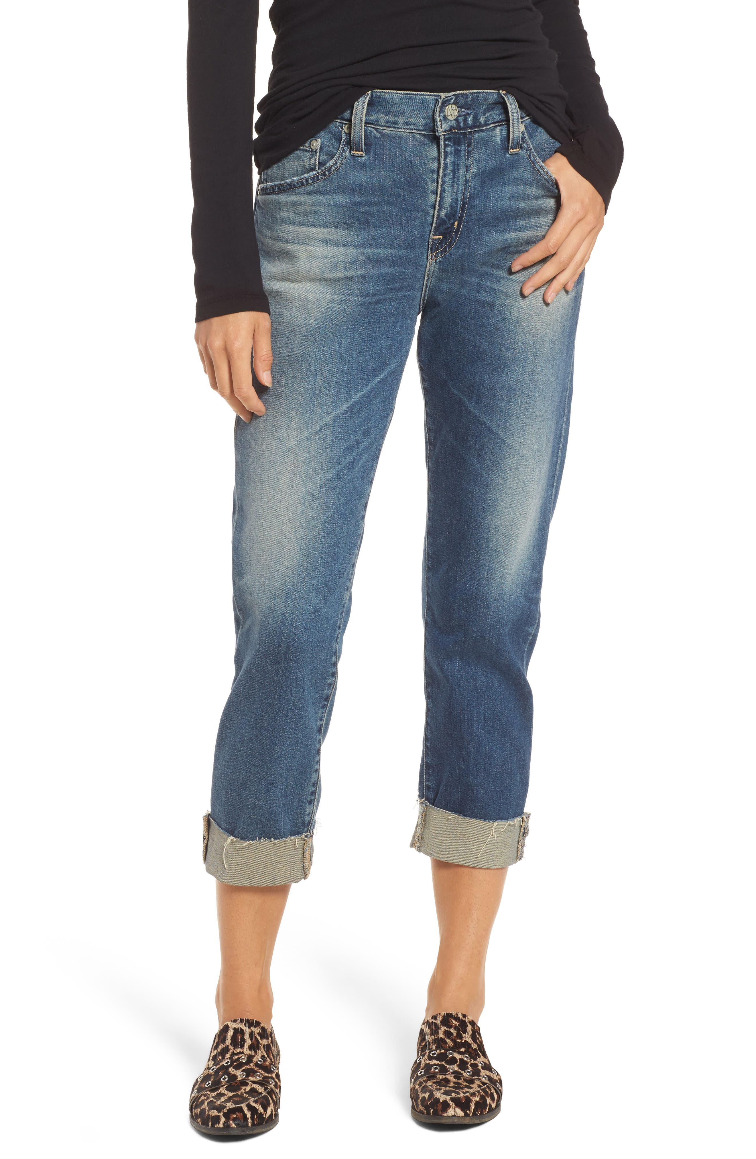 The Ex-Boyfriend Slim Jeans,                             Main thumbnail 1, color,                             15 Years Brass