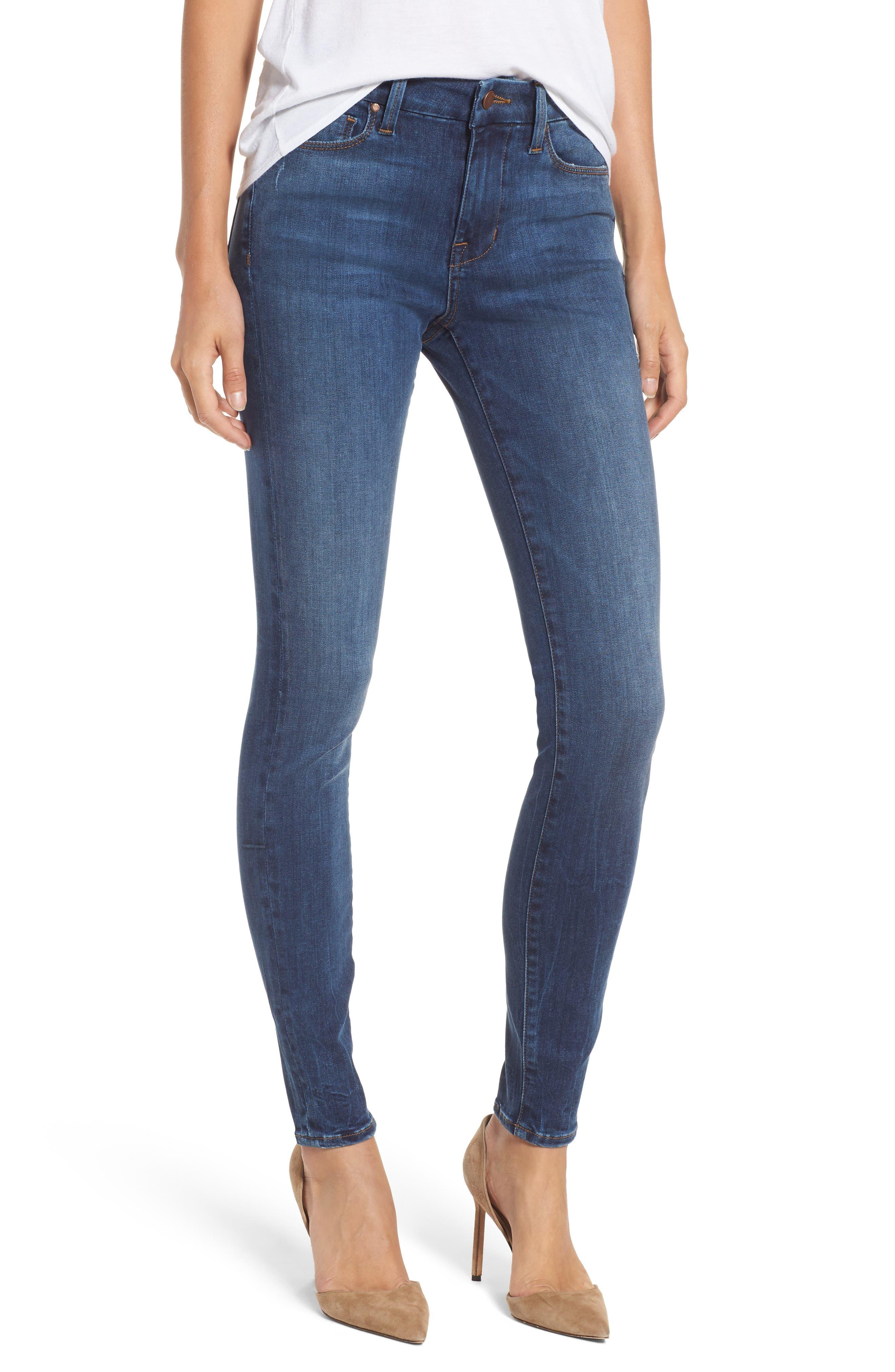 Alternate Image 1 Selected - Fidelity Denim Belvedere Skinny Jeans (Vintage Blue)