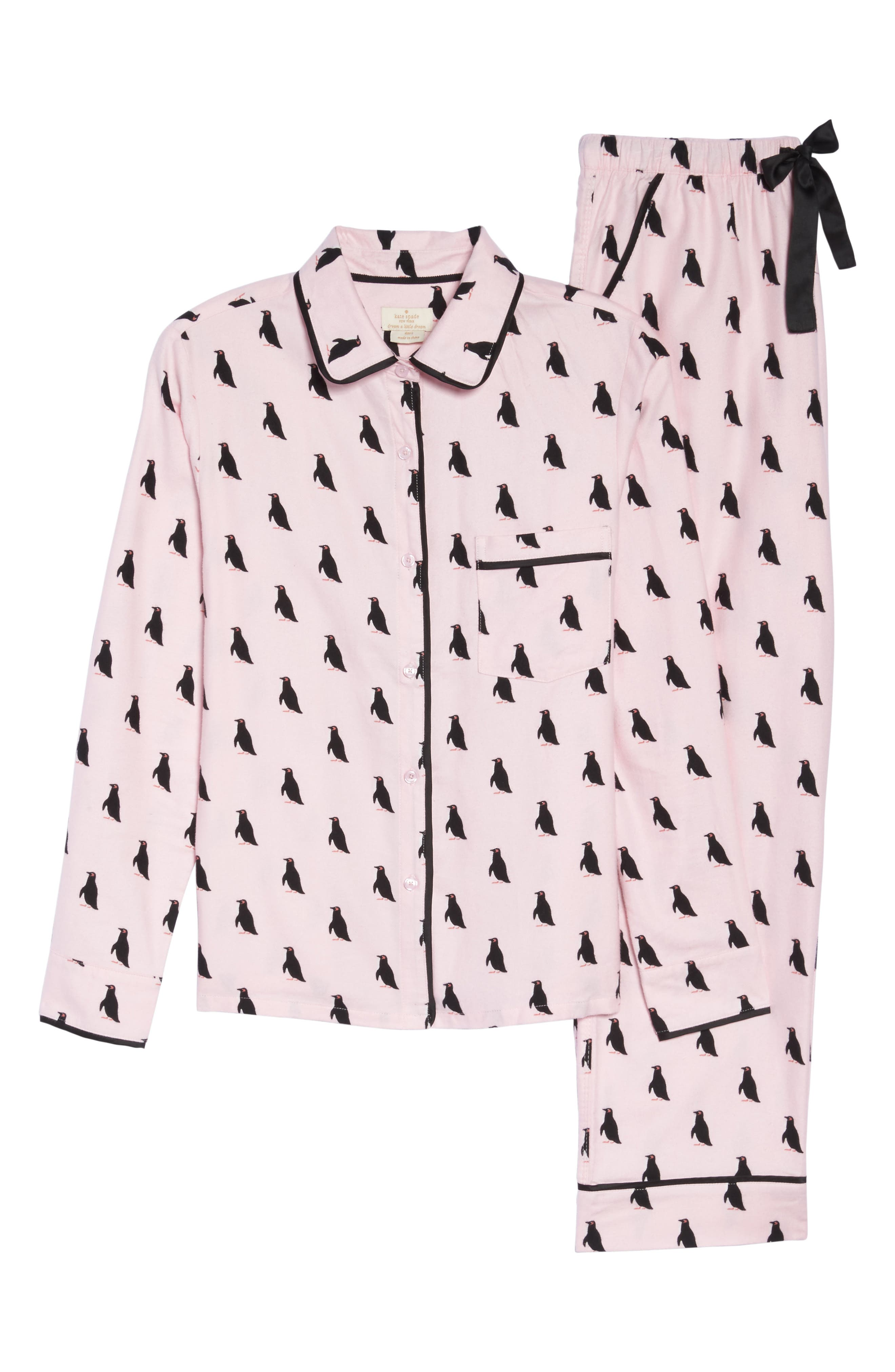 Alternate Image 4  - kate spade new york flannel pajamas