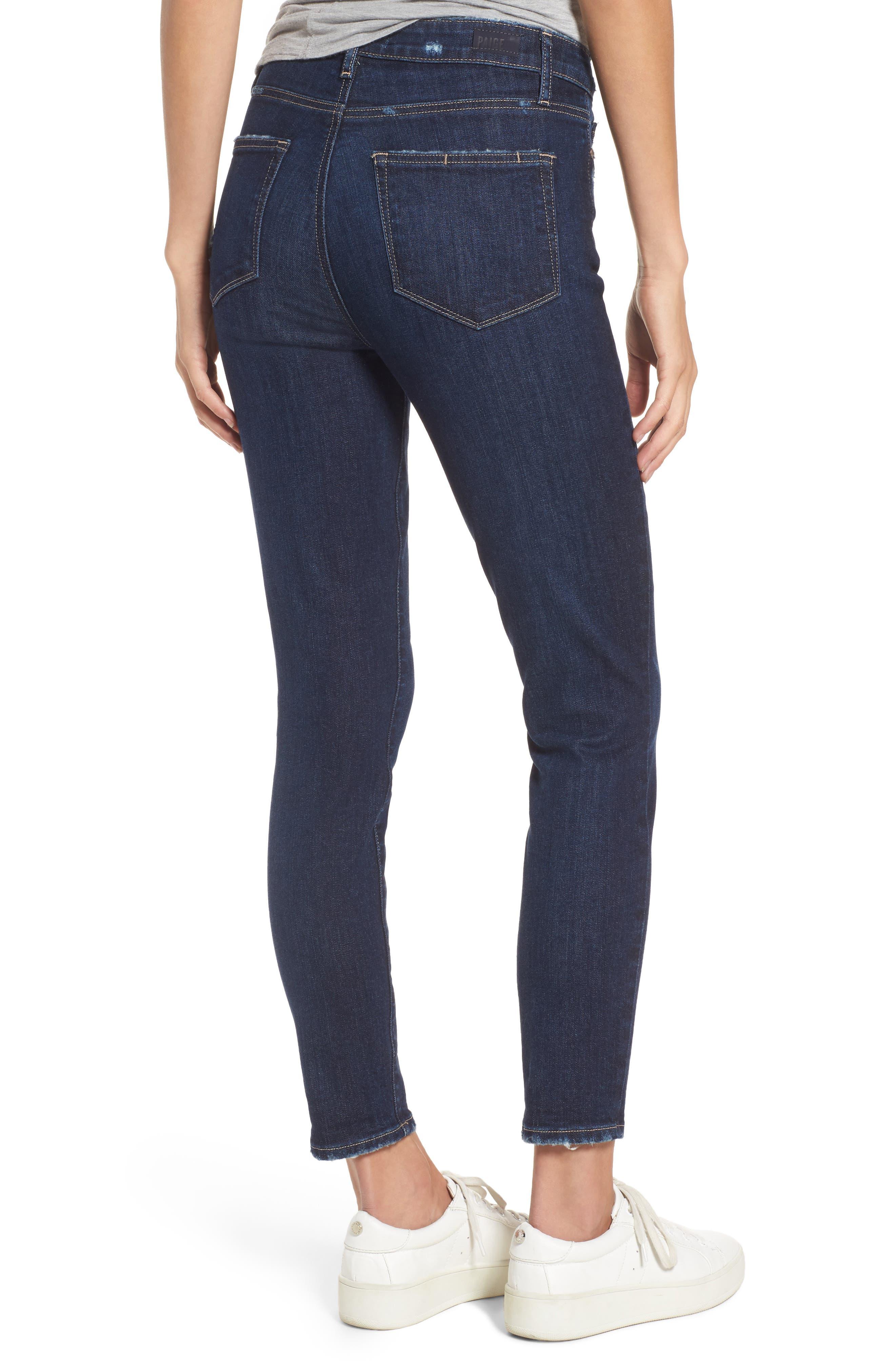 Margot High Waist Ankle Skinny Jeans,                             Alternate thumbnail 2, color,                             Davidson Destructed