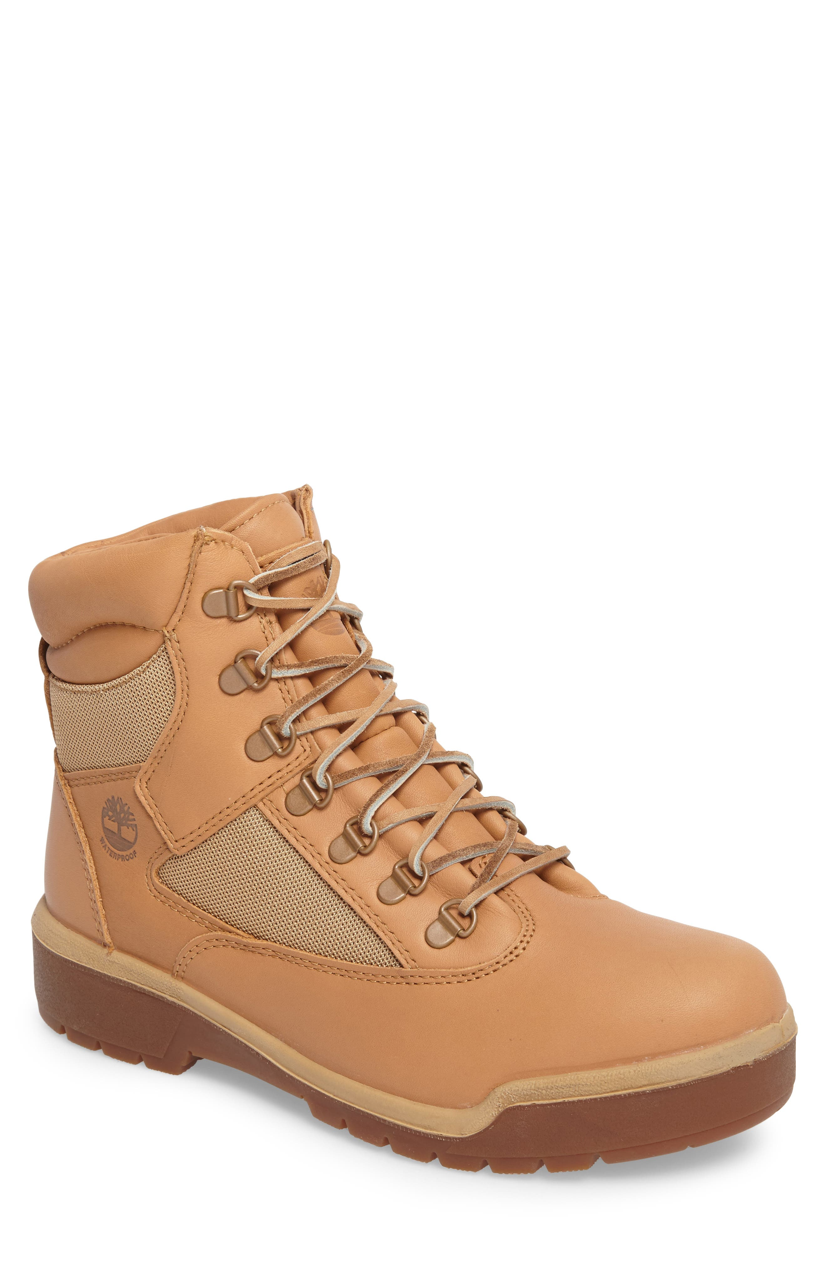 Waterproof Boot,                             Main thumbnail 1, color,                             Natural Hoween/ Latigo Leather