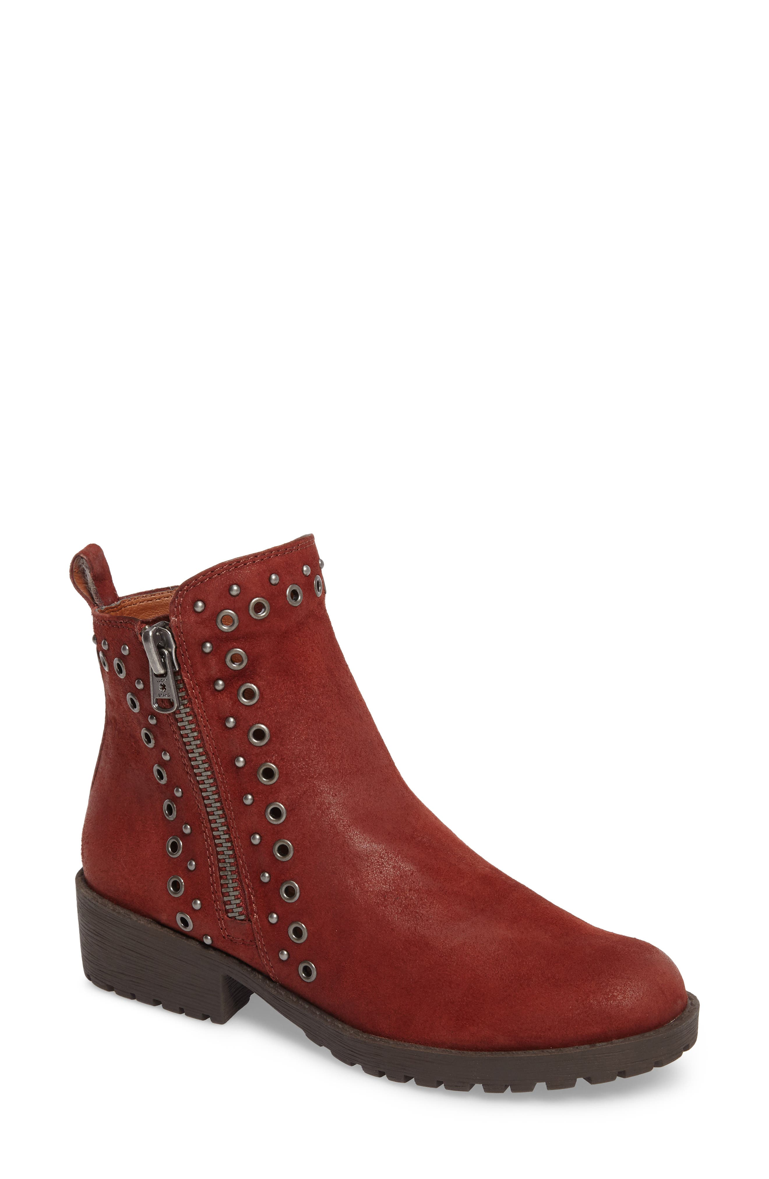 Hannie Embellished Bootie,                         Main,                         color, Sable Leather