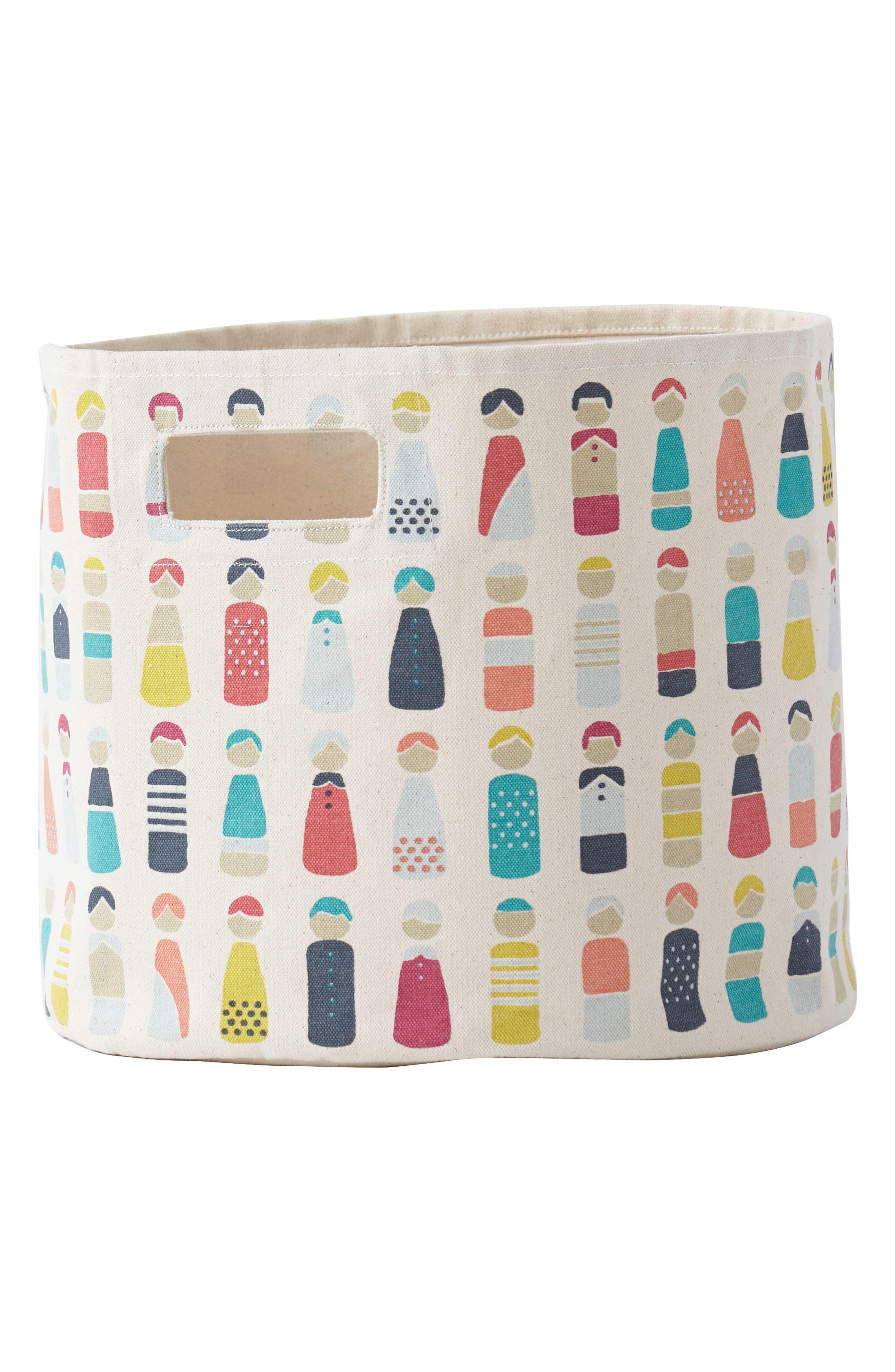 Little Peeps Mini Canvas Bin,                             Main thumbnail 1, color,                             Multi