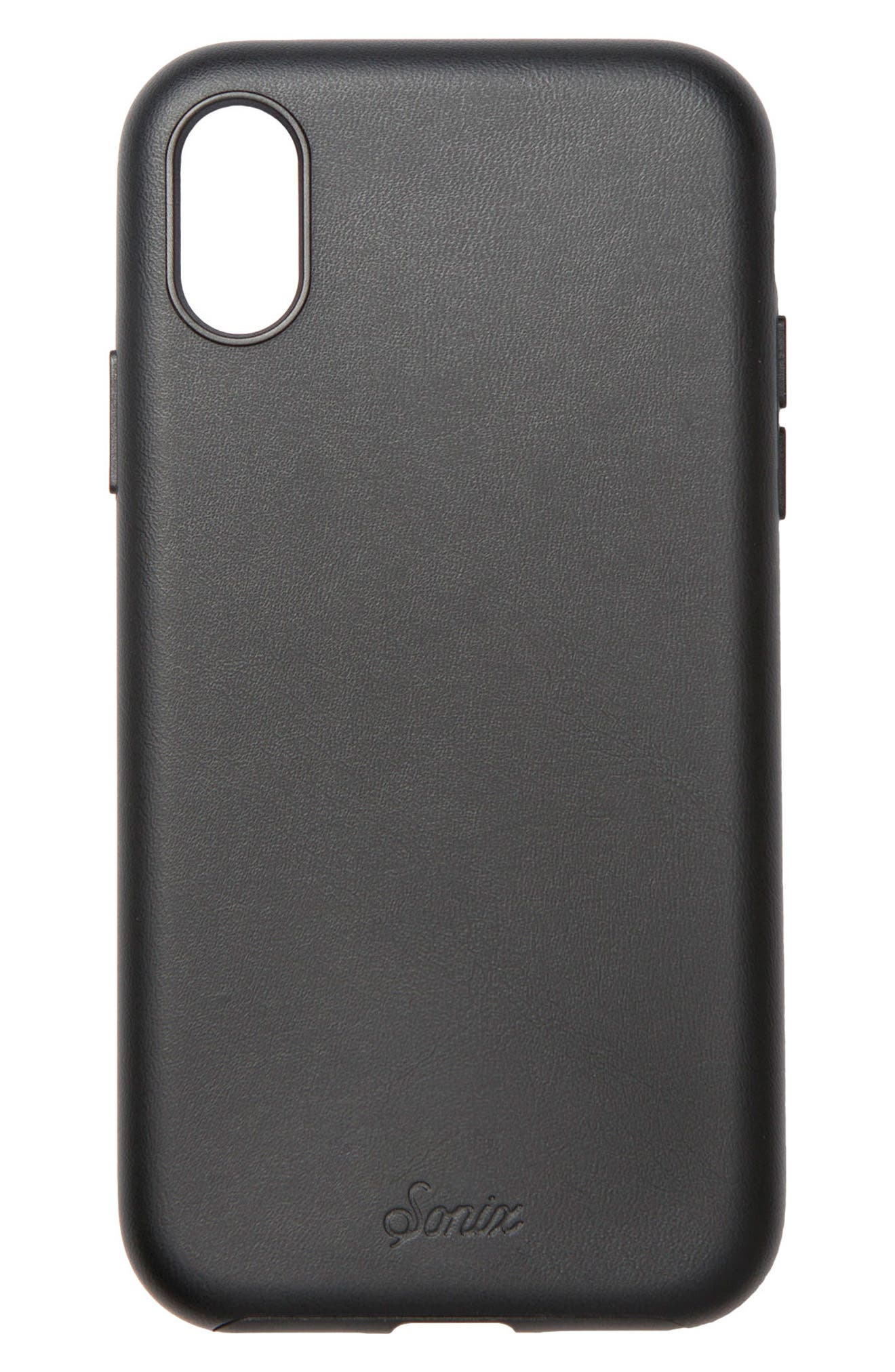 Alternate Image 4  - Sonix Faux Leather iPhone X Case