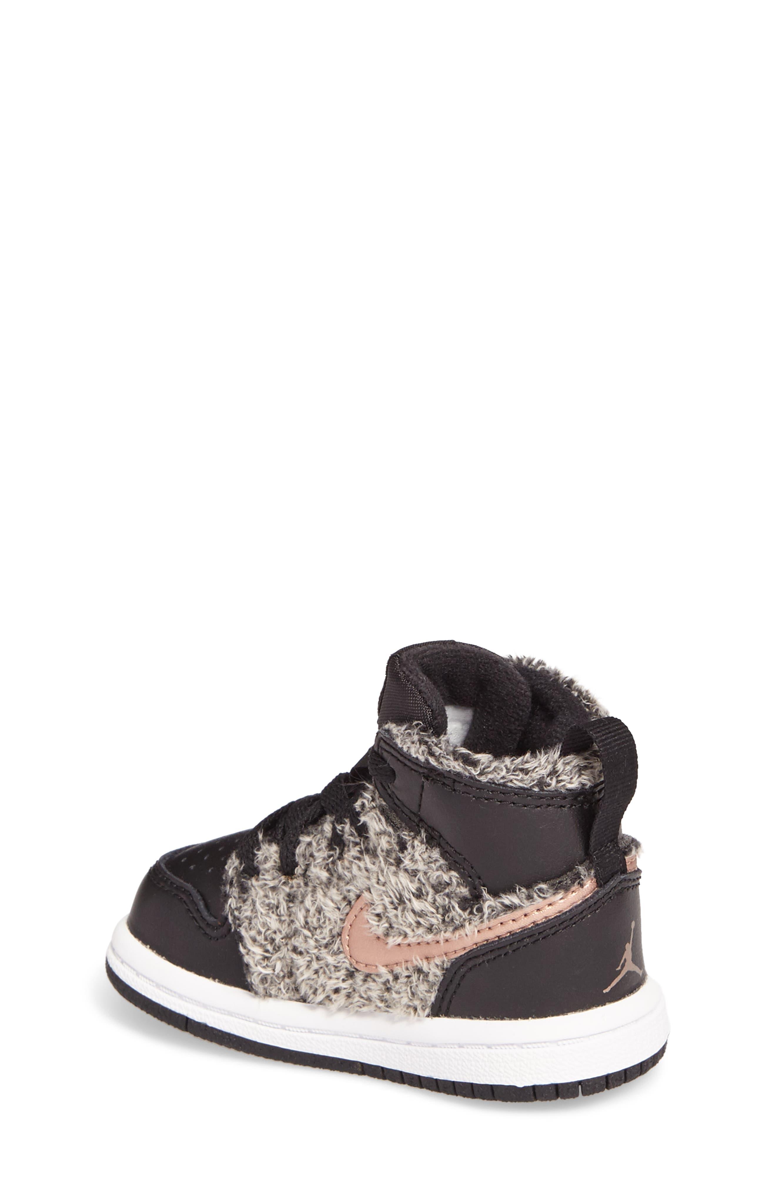 Alternate Image 2  - Nike Air Jordan 1 Retro High Top Basketball Shoe (Baby, Walker and Toddler)