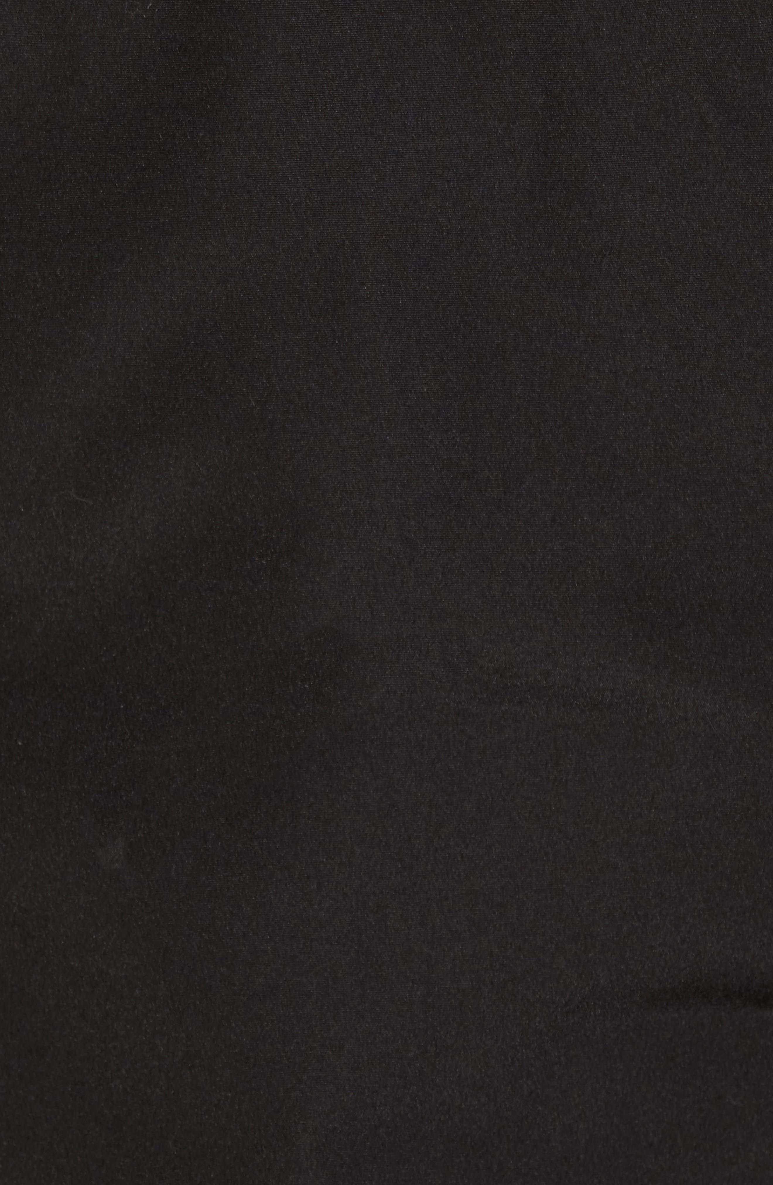 Langford Trim Fit Parka with Genuine Coyote Fur Trim,                             Alternate thumbnail 5, color,                             Black