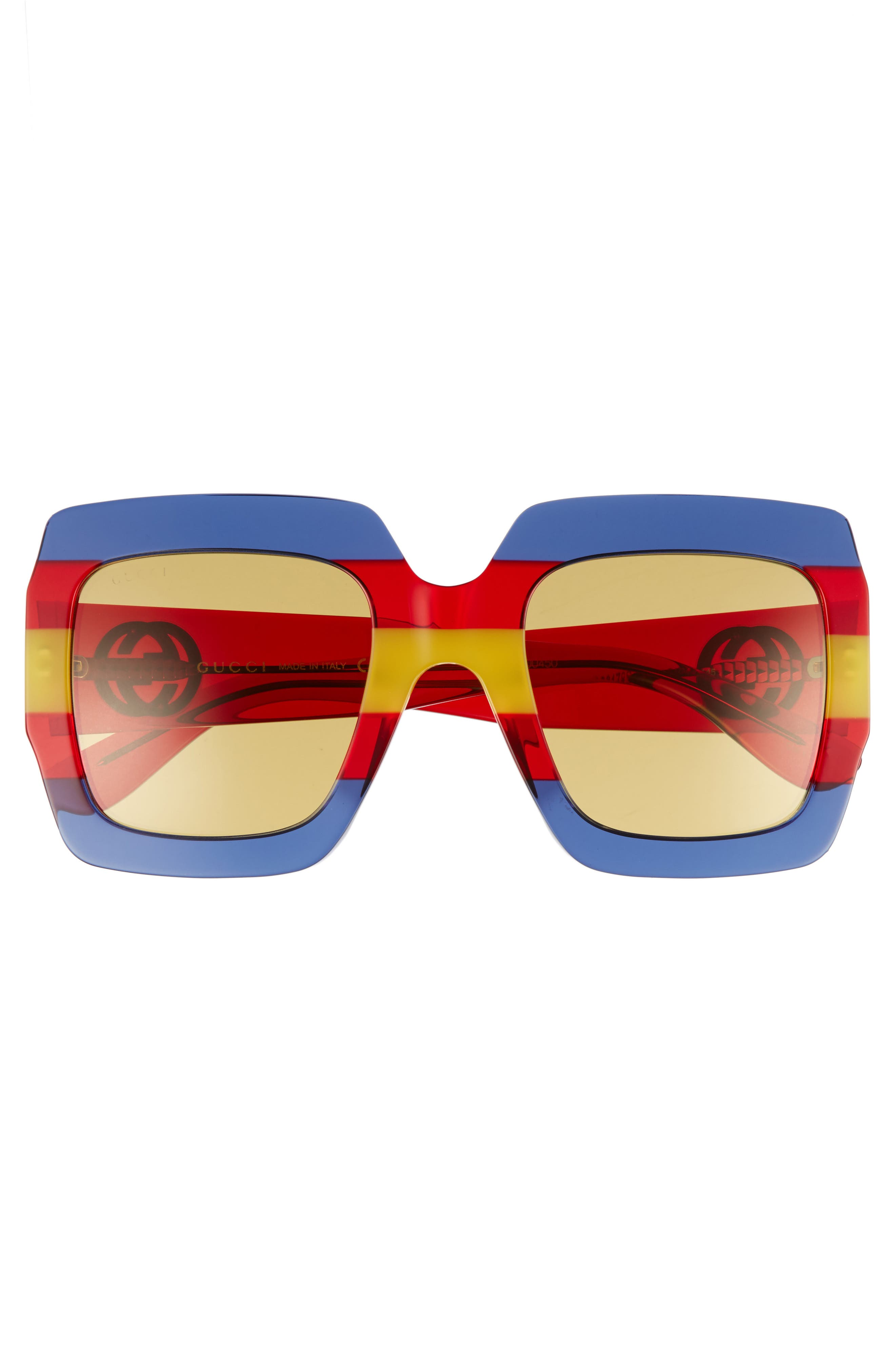 54mm Square Sunglasses,                             Alternate thumbnail 3, color,                             Multi/ Blue
