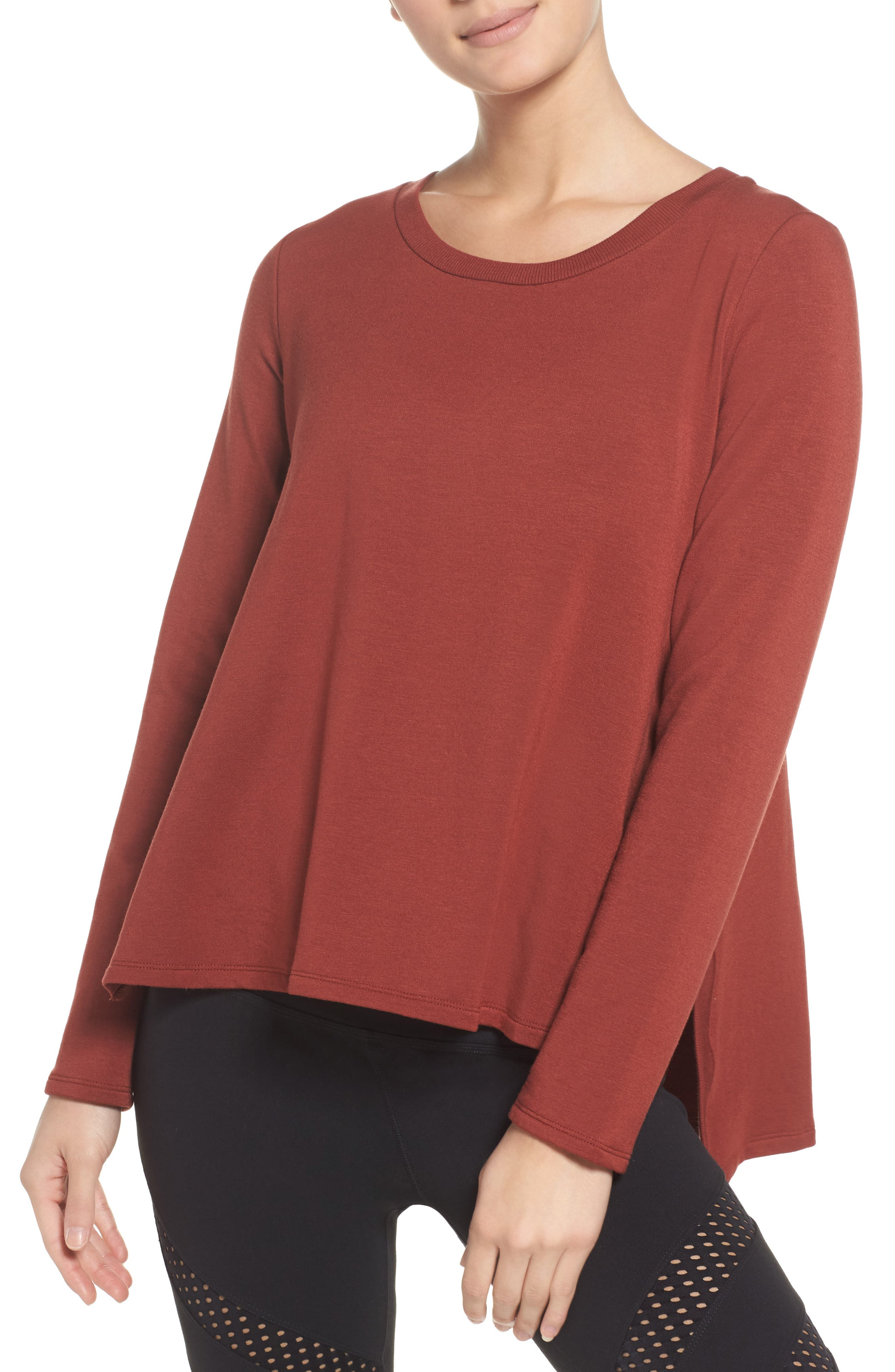 Beyond Yoga Come Together Split Hem Pullover