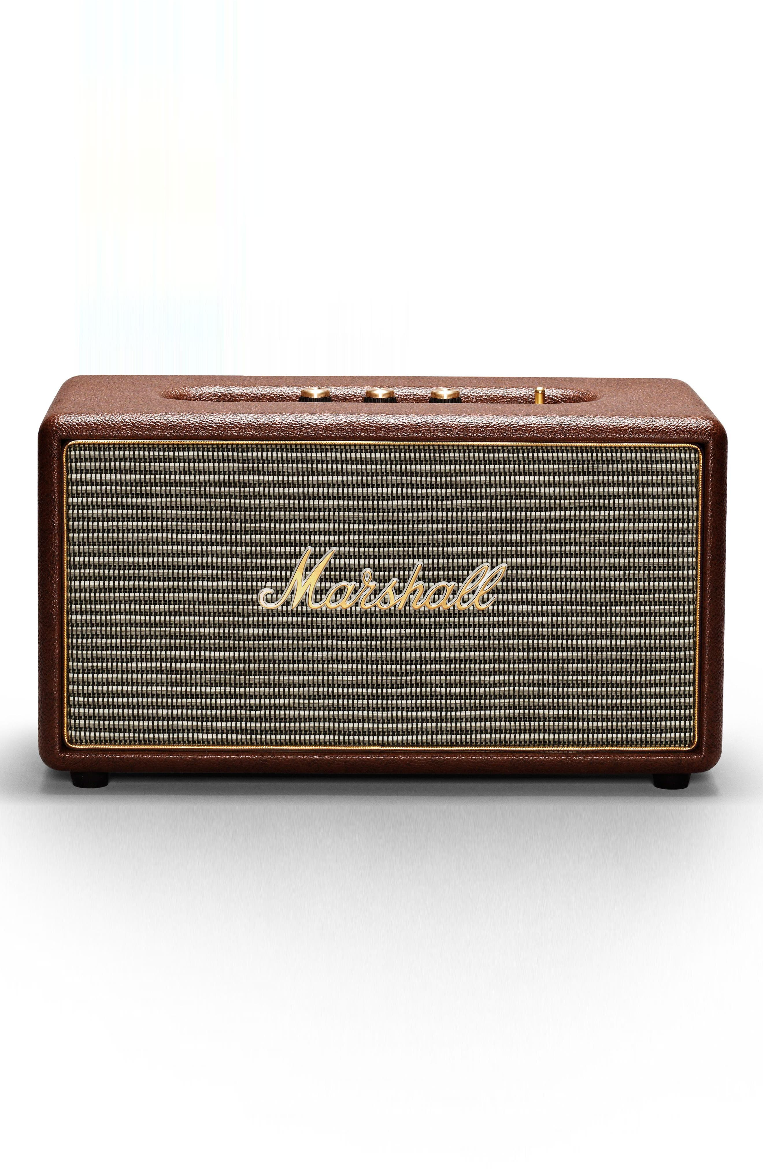 Stanmore Bluetooth Speaker,                             Main thumbnail 1, color,                             Brown