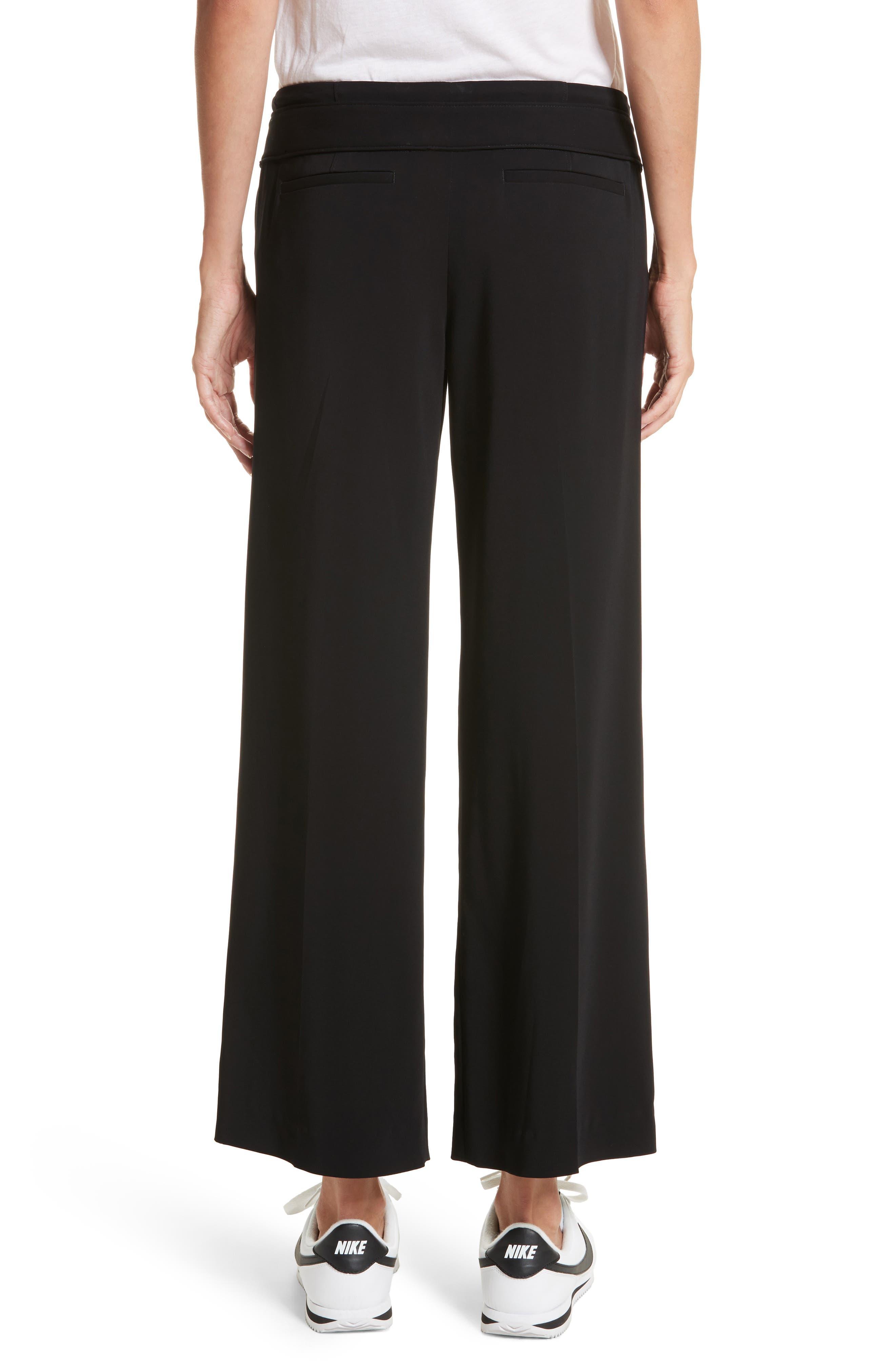 Heri Wide Leg Crepe Pants,                             Alternate thumbnail 2, color,                             Black