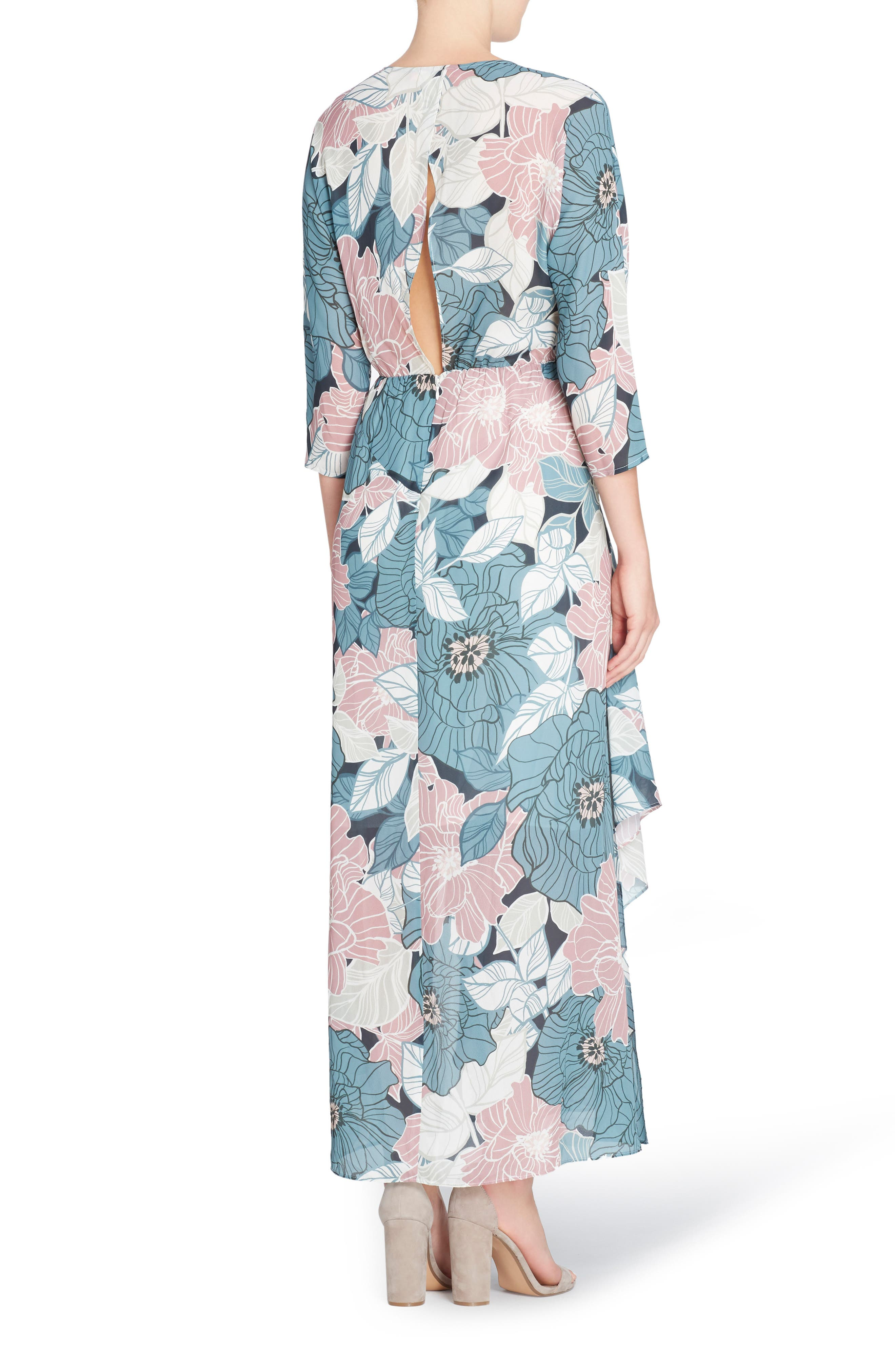 Alternate Image 2  - Catherine Catherine Malandrino Larissa Chiffon Maxi Dress
