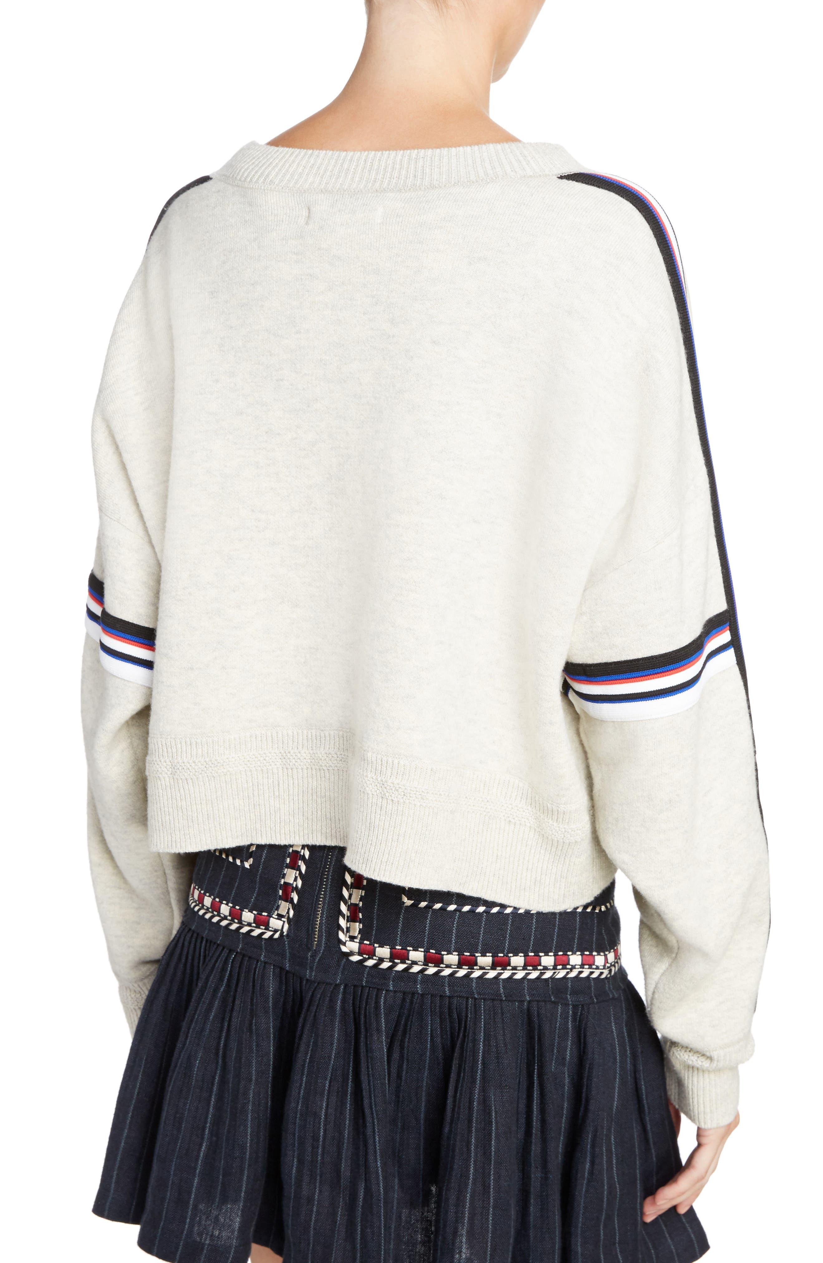 Isabel Marant Étoile Kao Sweatshirt,                             Alternate thumbnail 2, color,                             Light Grey